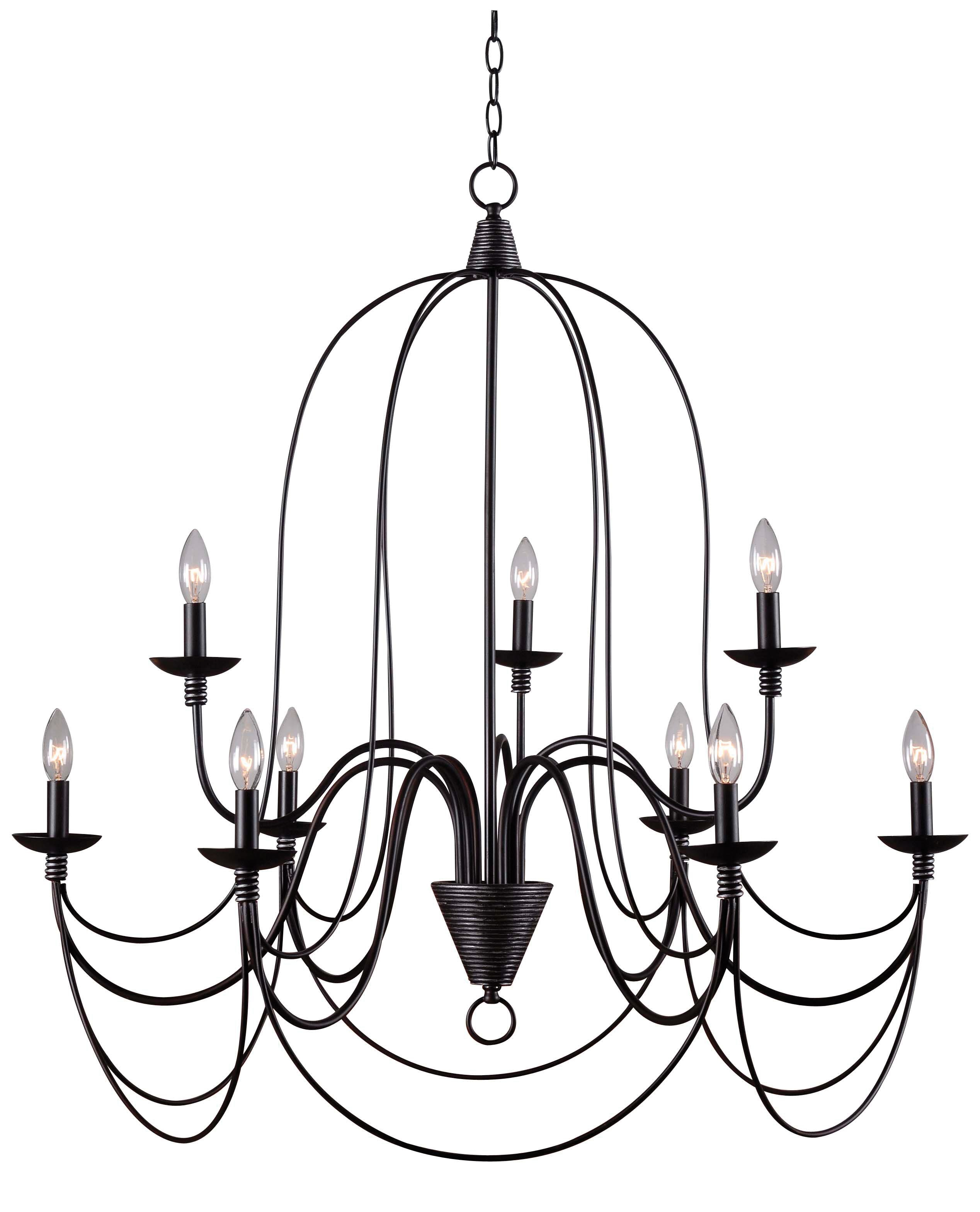 Watford 9-Light Candle Style Chandelier & Reviews | Joss & Main for Watford 6-Light Candle Style Chandeliers (Image 26 of 30)