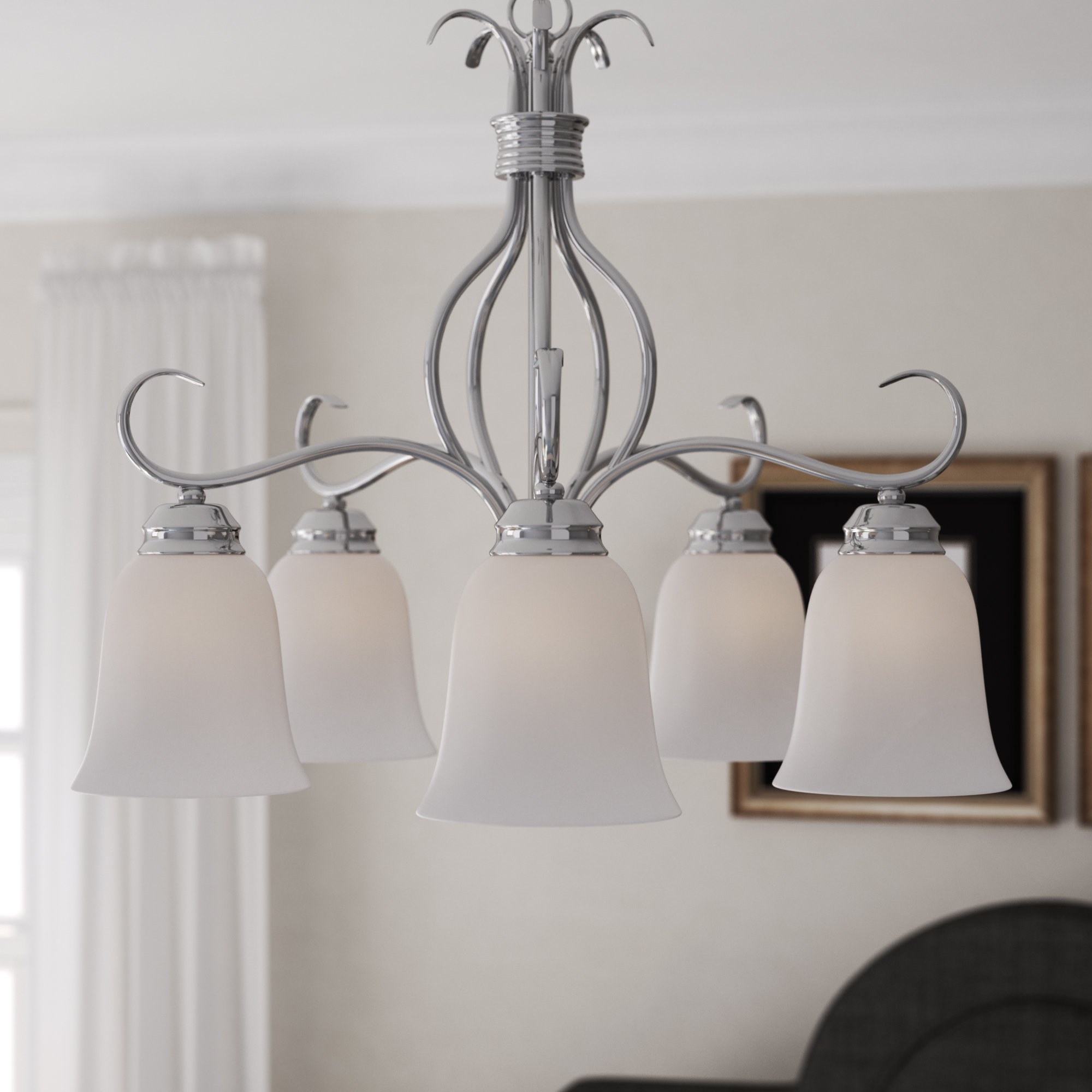 Wehr 5-Light Shaded Chandelier within Crofoot 5-Light Shaded Chandeliers (Image 29 of 30)
