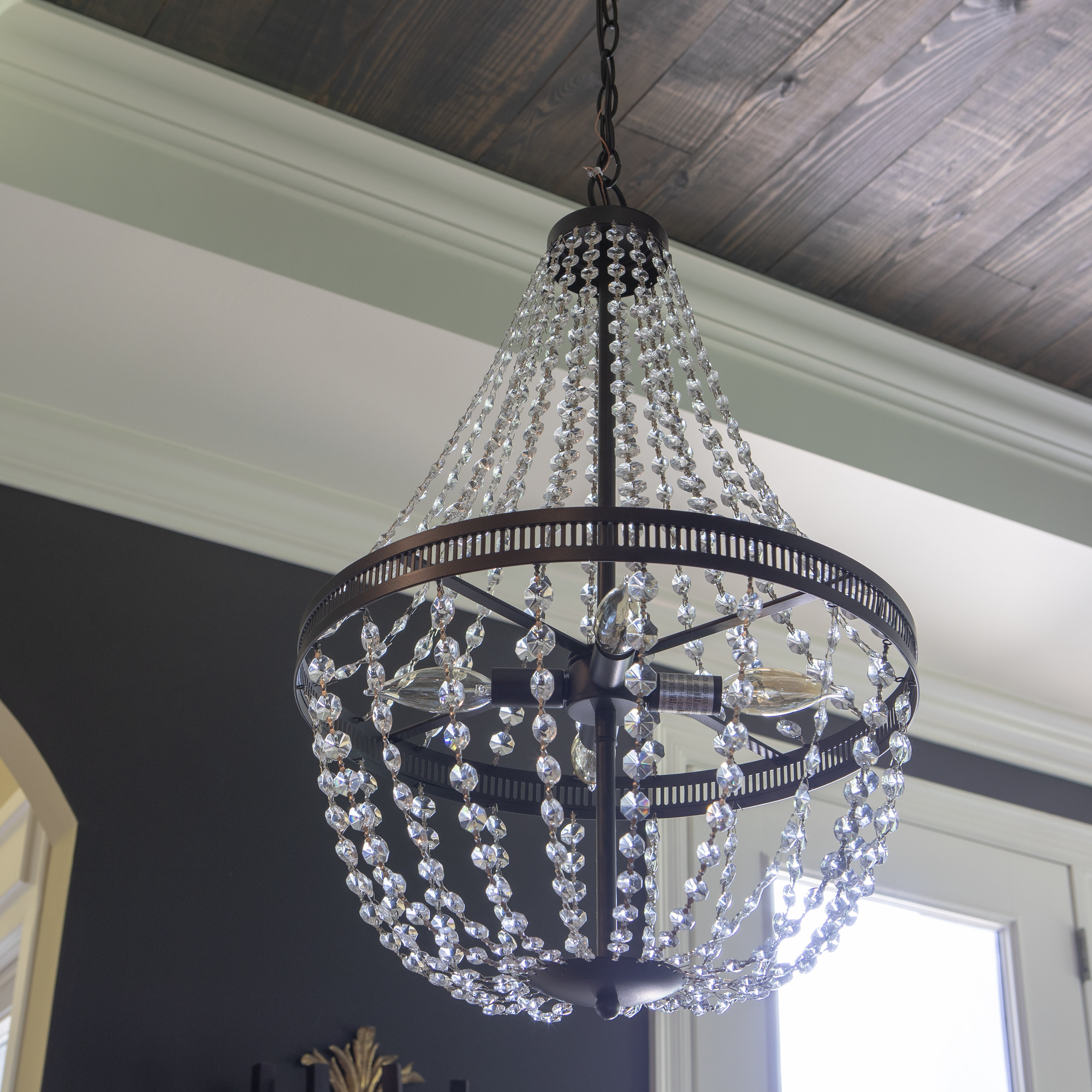 Weidman 4 Light Crystal Chandelier Intended For Jill 4 Light Drum Chandeliers (View 12 of 30)