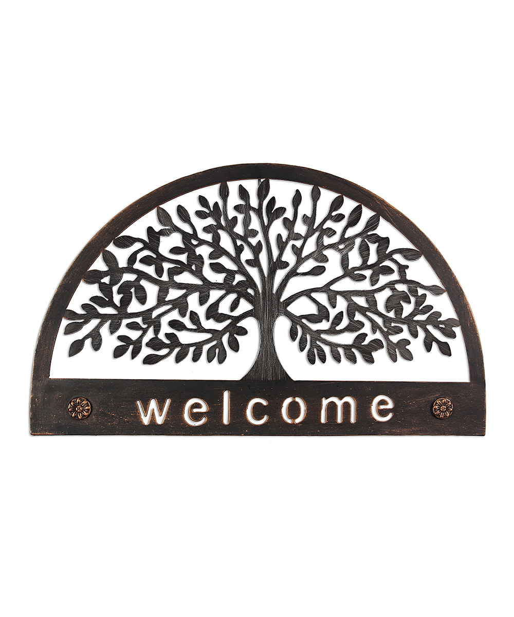 'welcome' Family Tree Wall Art Inside Tree Welcome Sign Wall Decor (View 7 of 30)