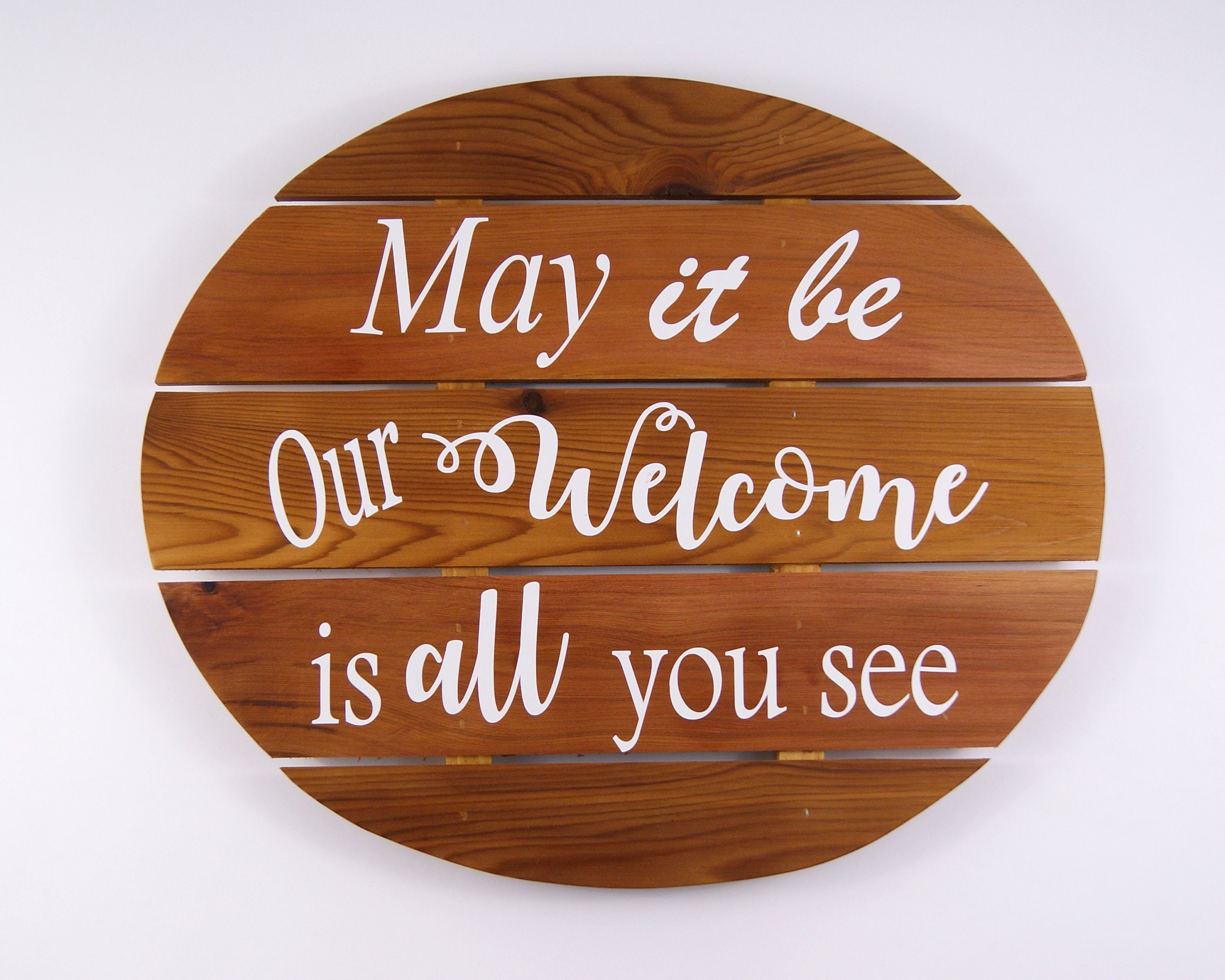 Welcome Sign, Cedar Wood Wall Hanging, Interior Wall Art with regard to Tree Welcome Sign Wall Decor (Image 24 of 30)