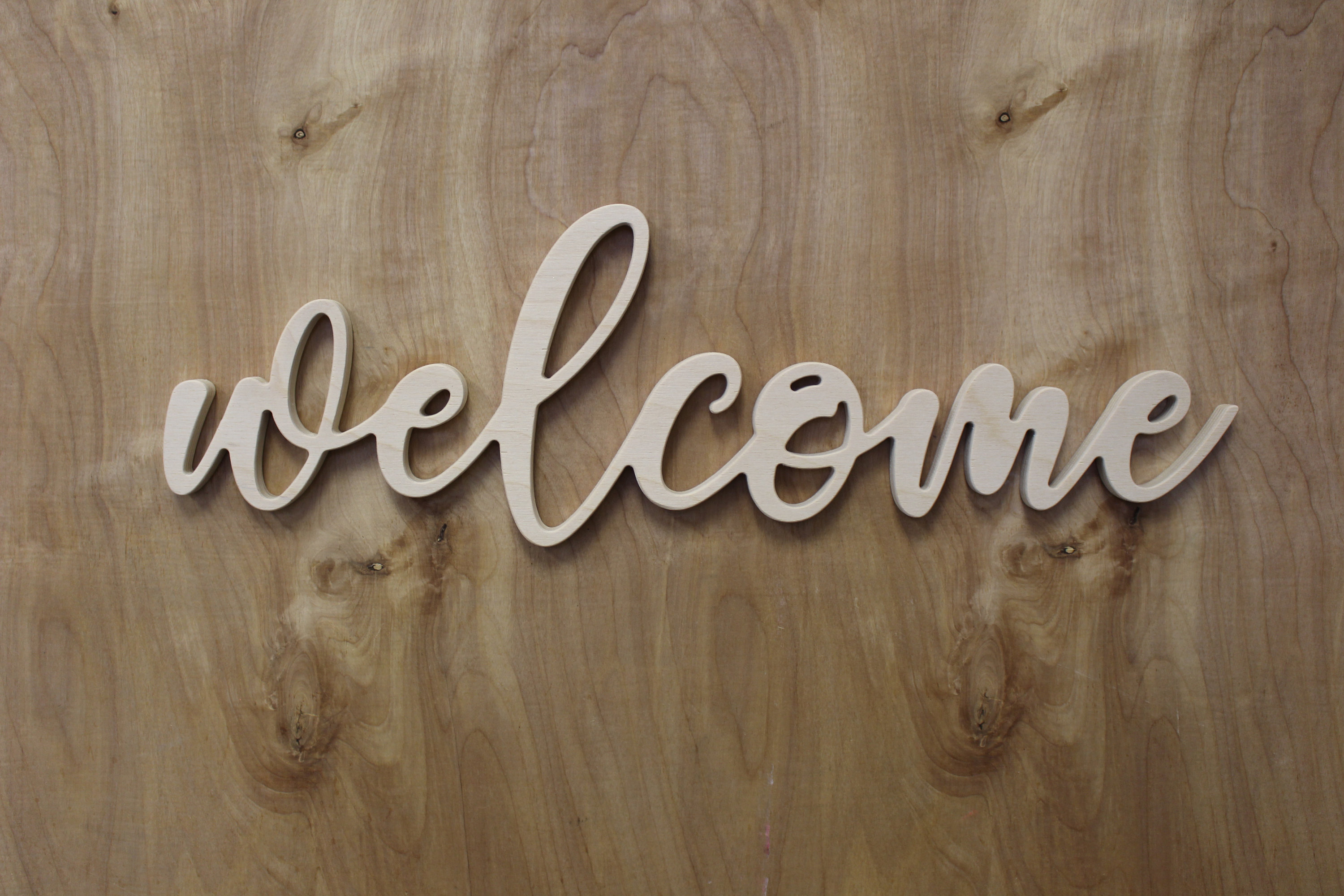 """Welcome Wood Sign, Wall Art, Welcome Wall Sign, Welcome Cut Out Sign  ,welcome Wall Decor, Living Room Wall Art, with regard to In-a-Word """"welcome"""" Wall Decor (Image 28 of 30)"""