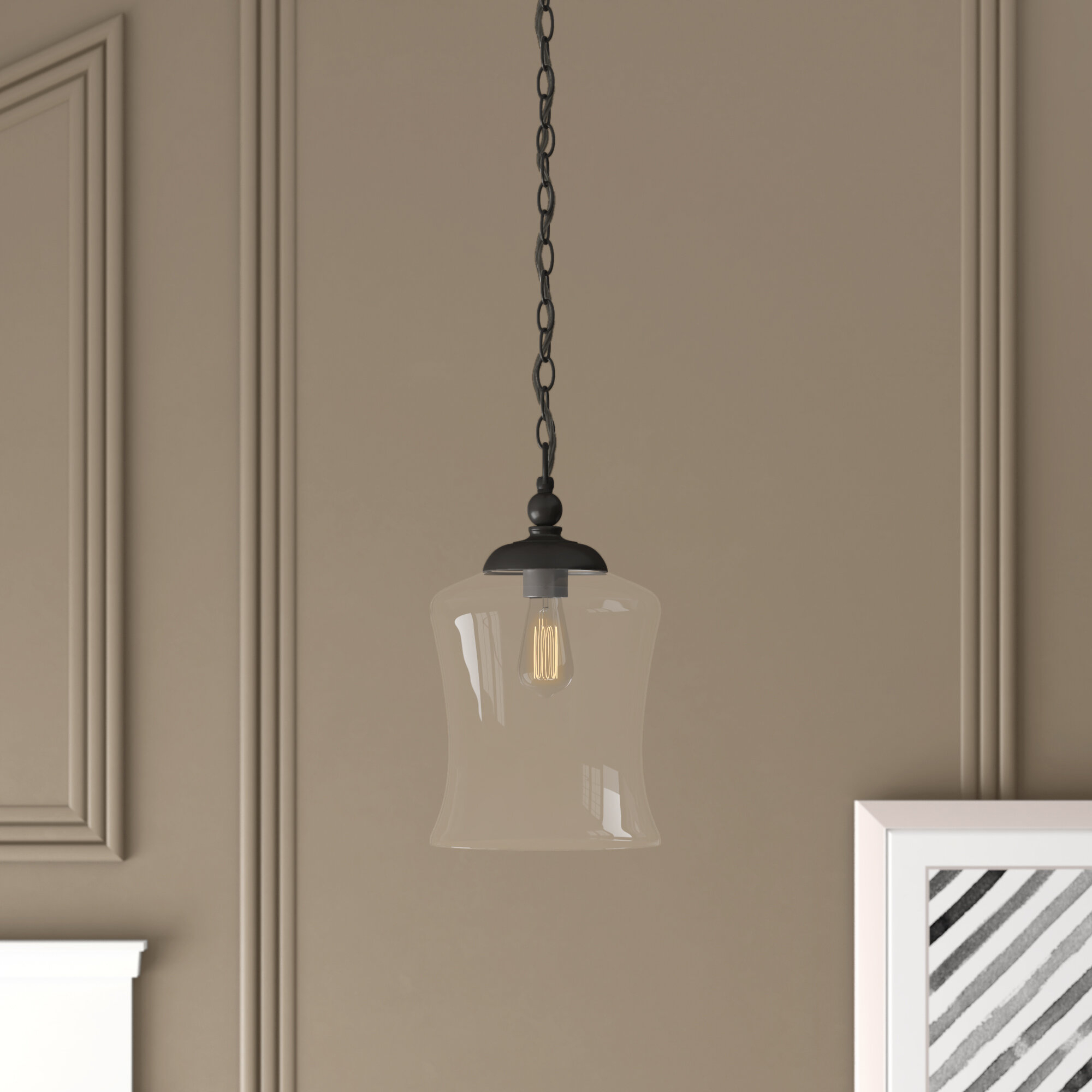Wentzville 1 Light Single Bell Pendant For Sargent 1 Light Single Bell Pendants (View 29 of 30)