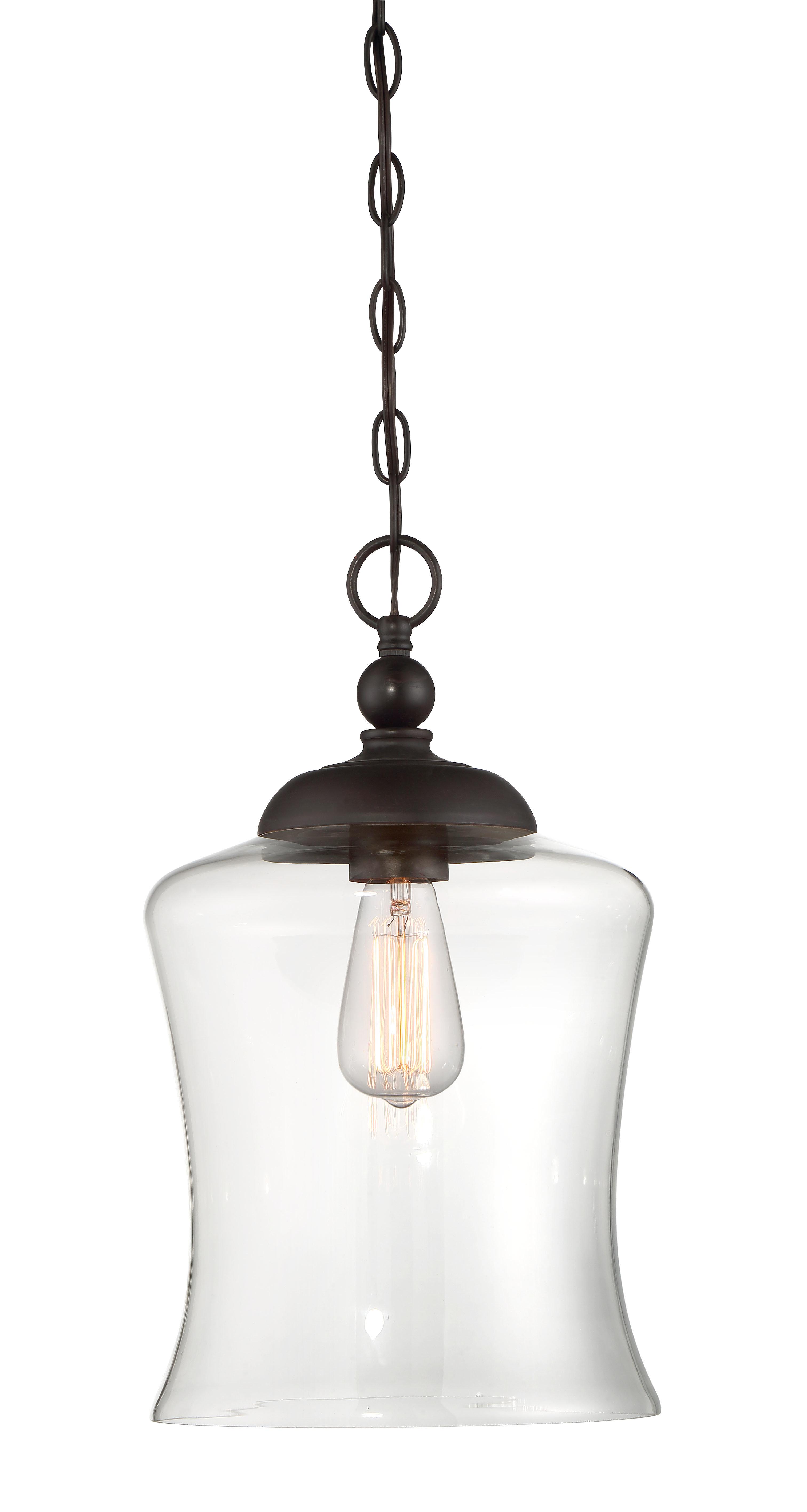 Wentzville 1-Light Single Bell Pendant in Conard 1-Light Single Teardrop Pendants (Image 28 of 30)
