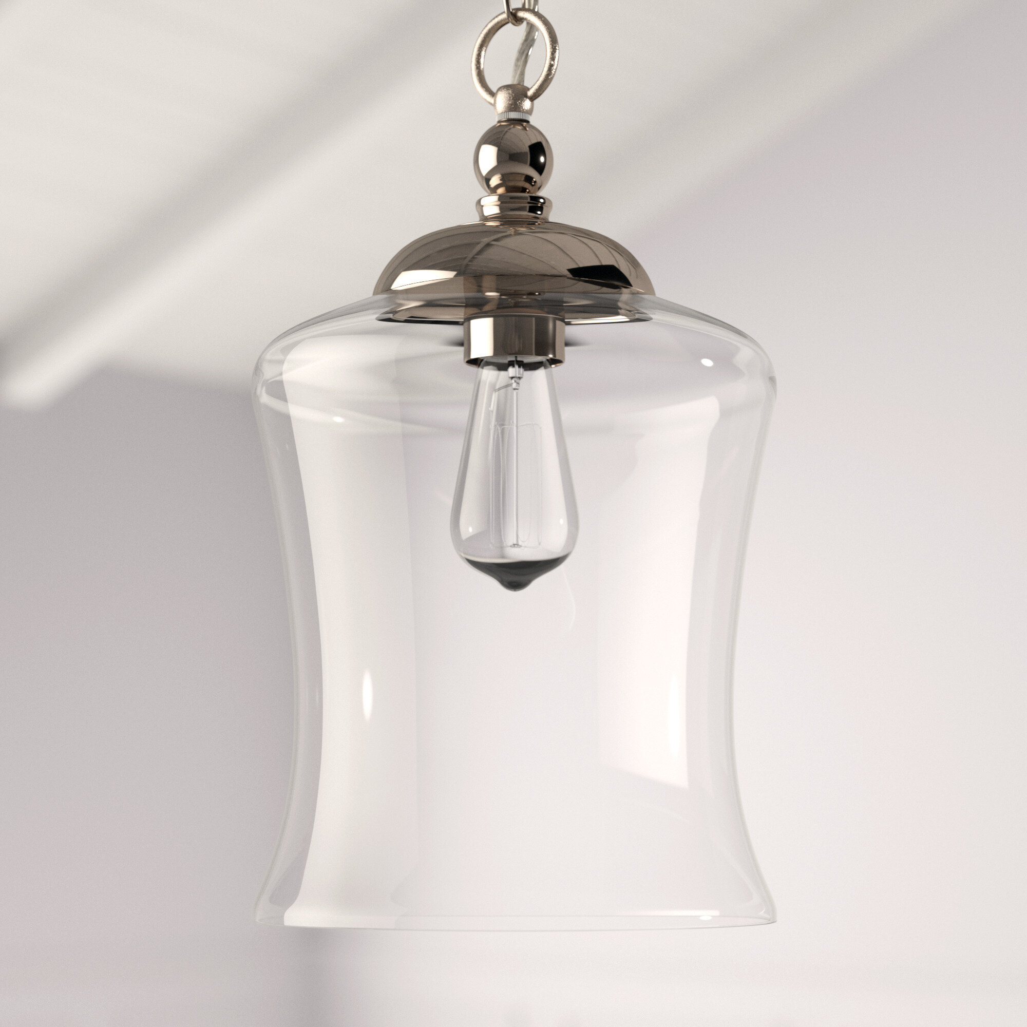 Wentzville 1-Light Single Bell Pendant in Moyer 1-Light Single Cylinder Pendants (Image 27 of 30)