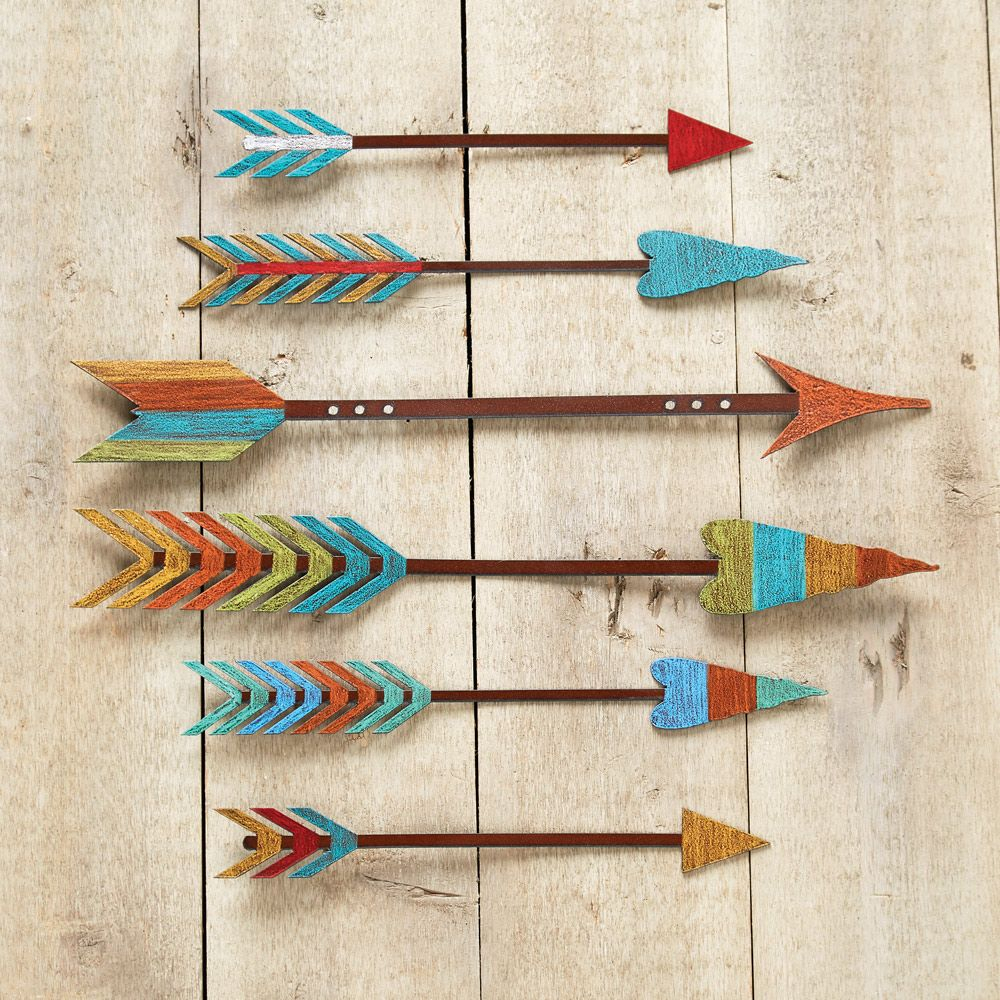 Western Metal Art Wall Hangings With Regard To Brown Metal Tribal Arrow Wall Decor (View 11 of 30)