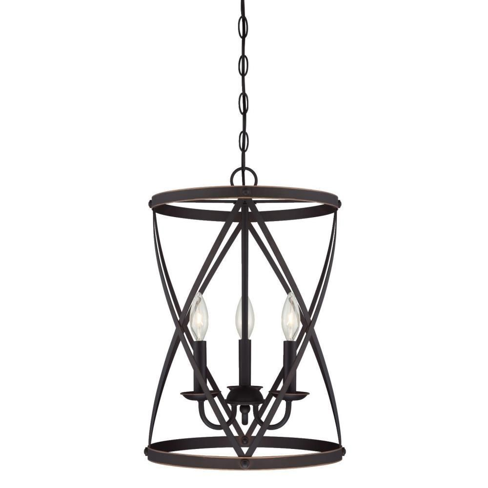 Westinghouse Isadora 3 Light Oil Rubbed Bronze Chandelier Within Dirksen 3 Light Single Cylinder Chandeliers (View 10 of 30)