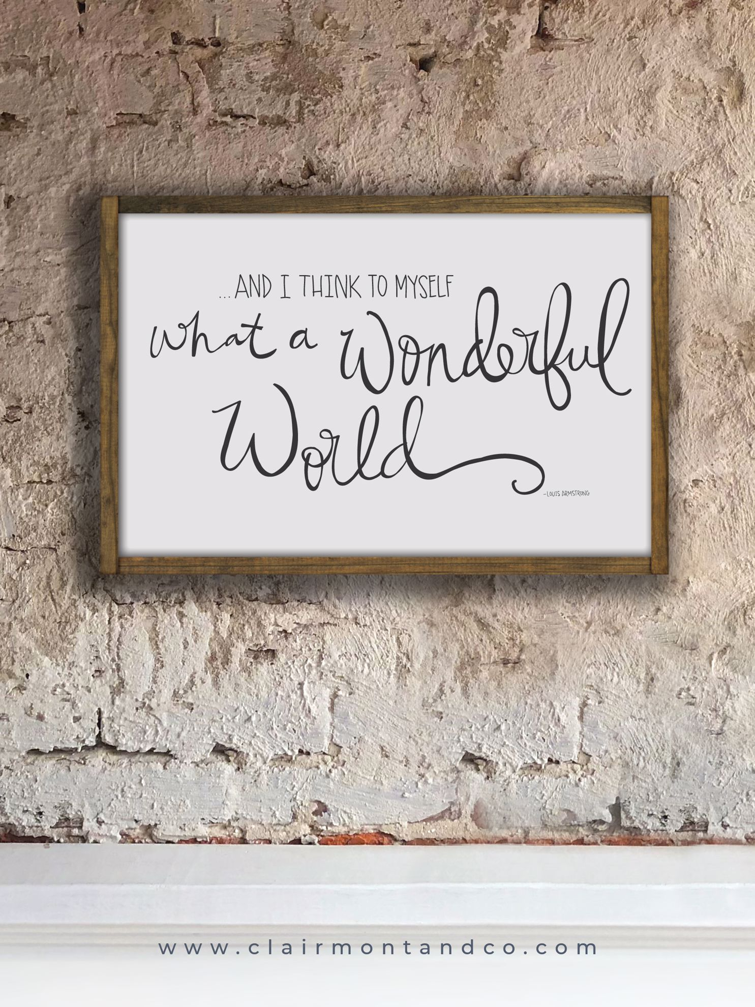 What A Wonderful World | 16X24 inside Wonderful World Wall Decor (Image 21 of 30)