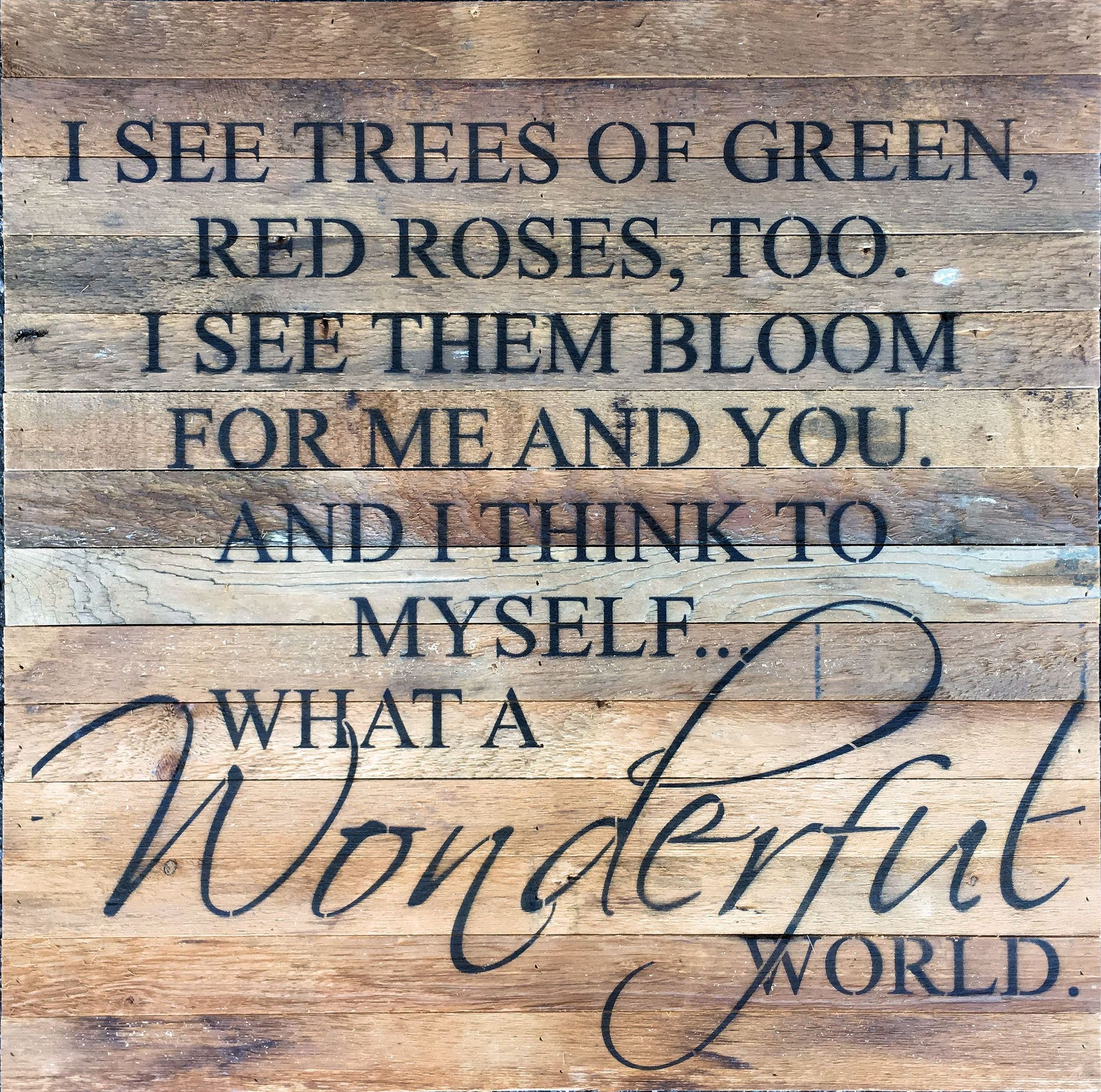 "What A Wonderful World"" Is The Song Made Originally Famous inside Wonderful World Wall Decor (Image 22 of 30)"