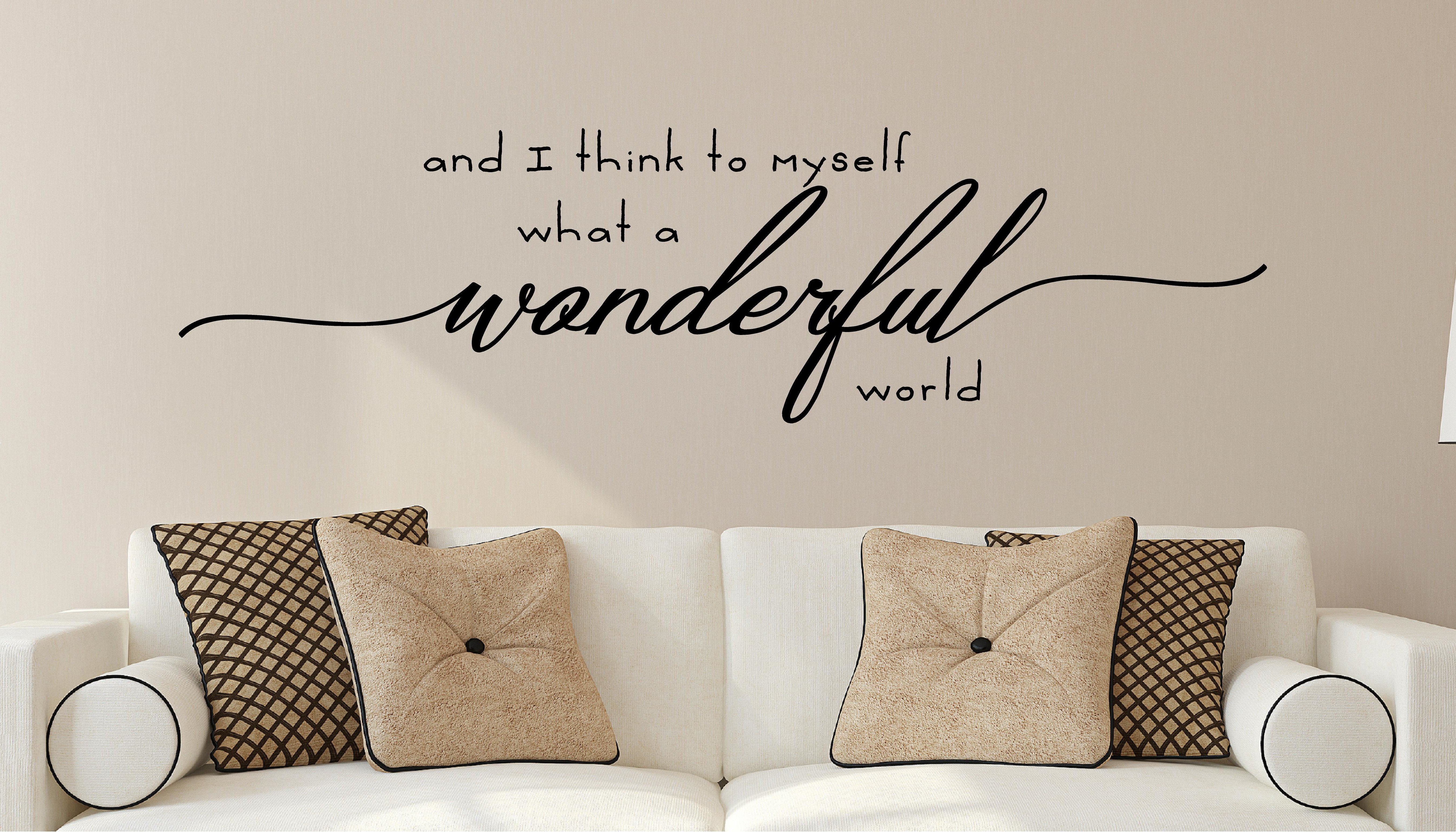 What A Wonderful World Sign | Wayfair With Wonderful World Wall Decor By Latitude Run (View 5 of 30)