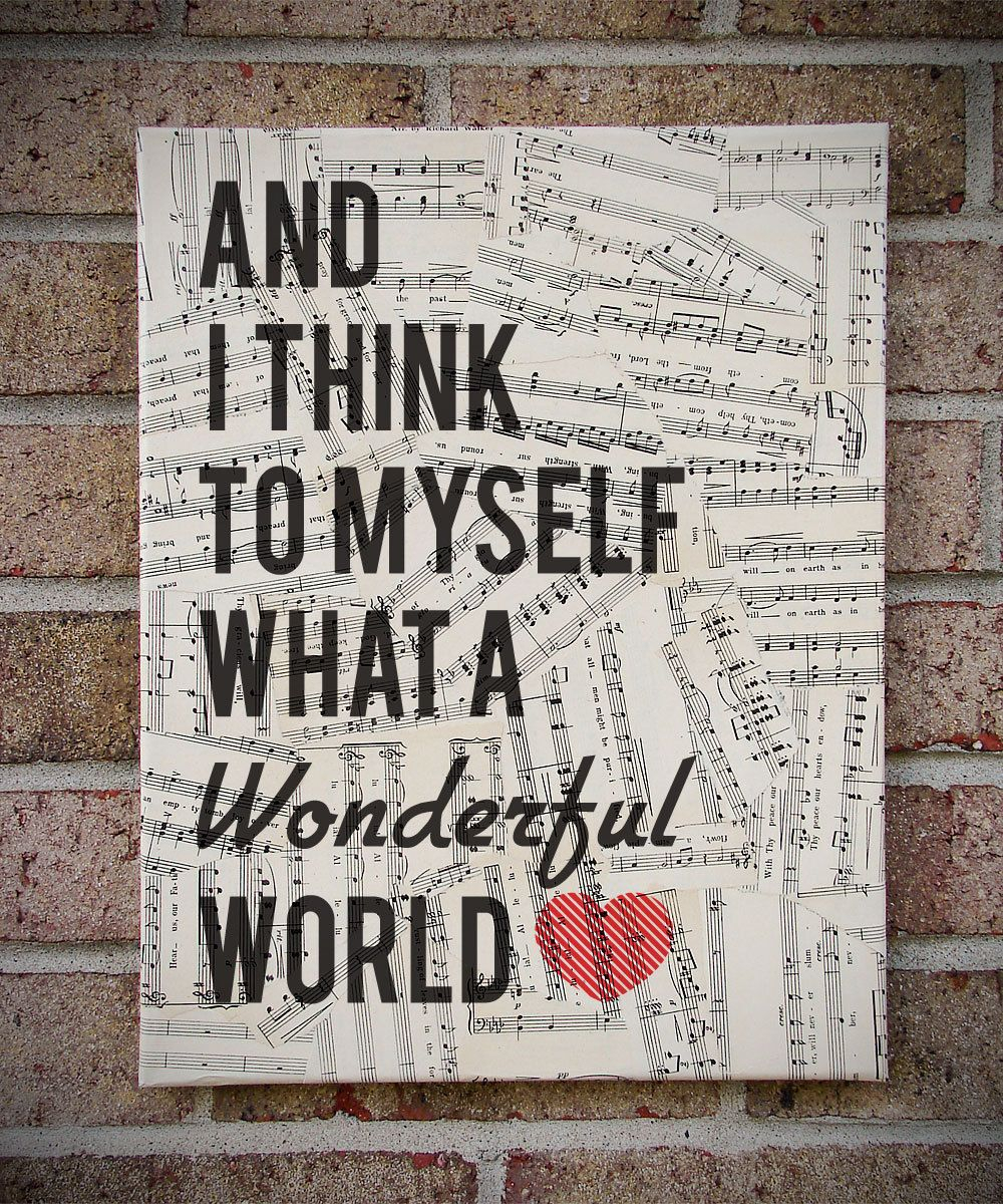 What A Wonderful World Wooden Wall Art, Louis Armstrong Song intended for Wonderful World Wall Decor (Image 20 of 30)