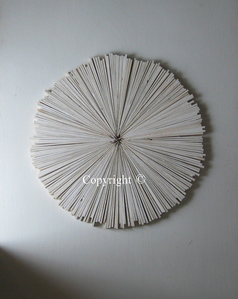 White Abstract Painting On Wood, Rustic Wall Decor , White Cottage, Round Art, Trending Designs Throughout Contemporary Abstract Round Wall Decor (View 30 of 30)