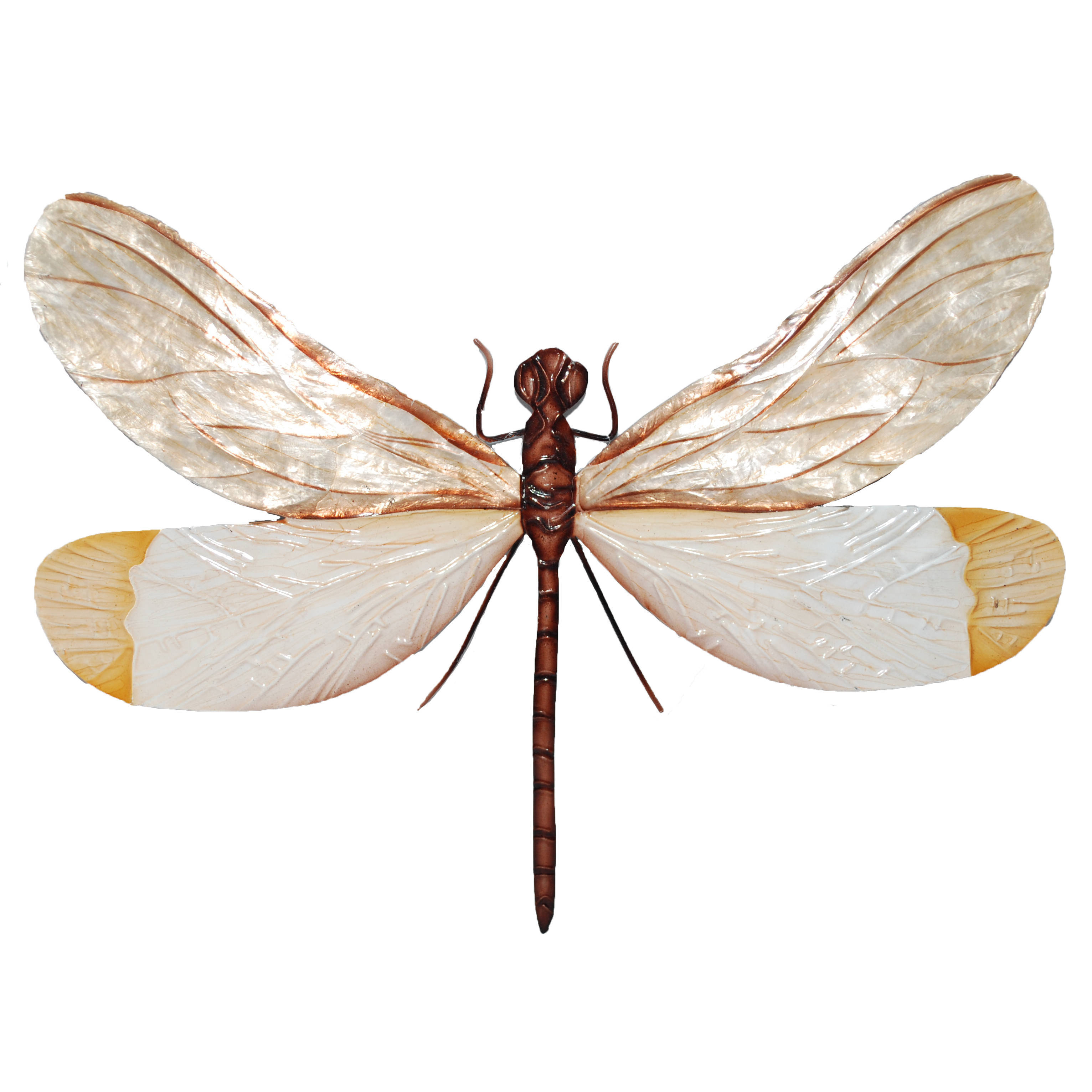 White And Brown Dragonfly Wall Decor For Dragonfly Wall Decor (View 12 of 30)