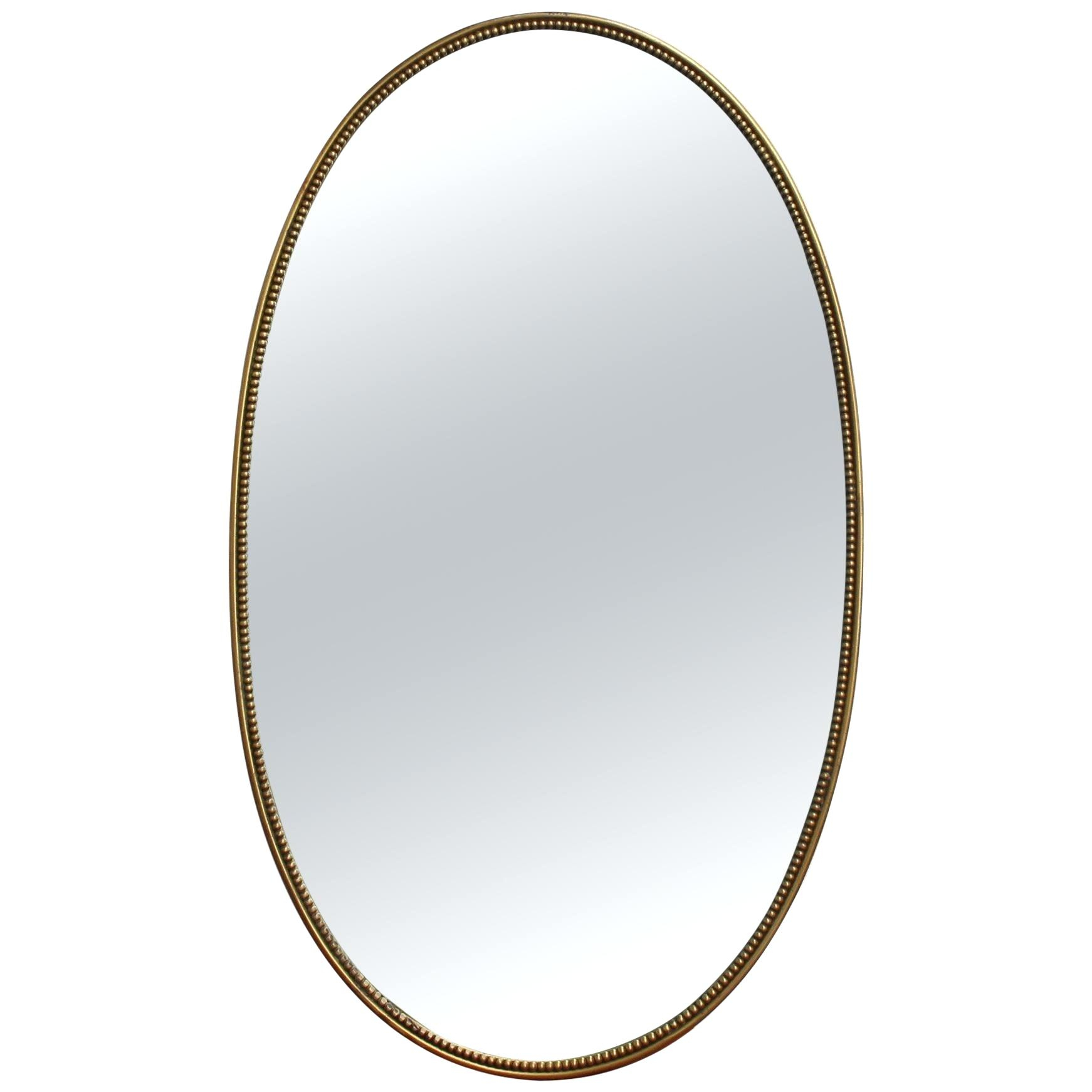 White Beaded Wall Mirror Beveled Floor Bronze Glam X Antique Inside Glam Beveled Accent Mirrors (View 22 of 30)