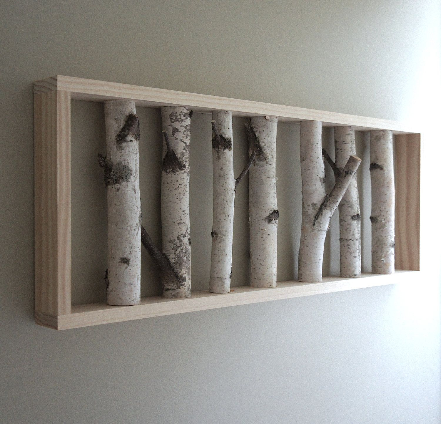White Birch Forest Wall Art – 36 X 12, Birch Branch Decor Pertaining To Contemporary Forest Metal Wall Decor (View 23 of 30)