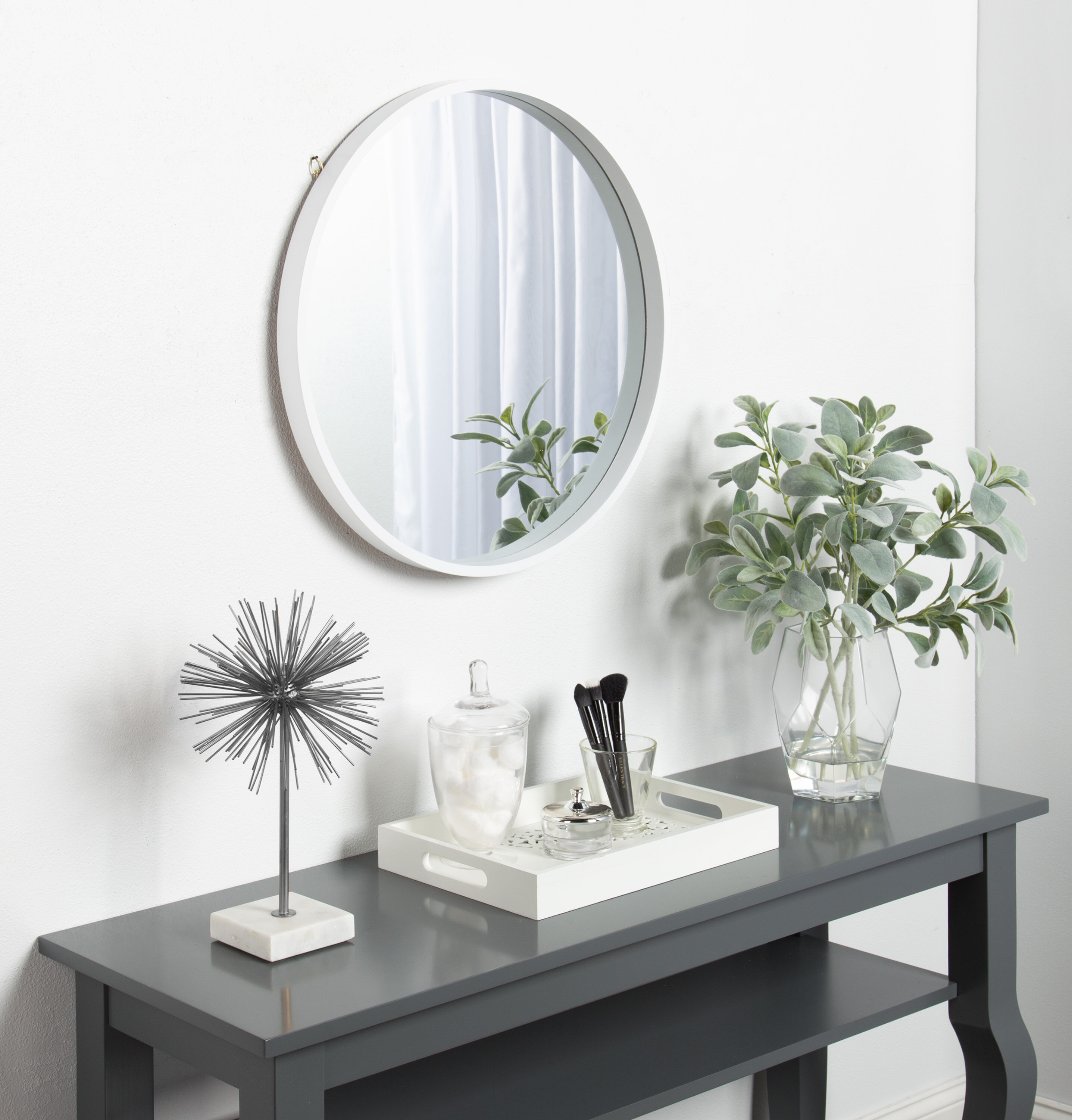 White Scroll Mirror | Wayfair with Swagger Accent Wall Mirrors (Image 28 of 30)