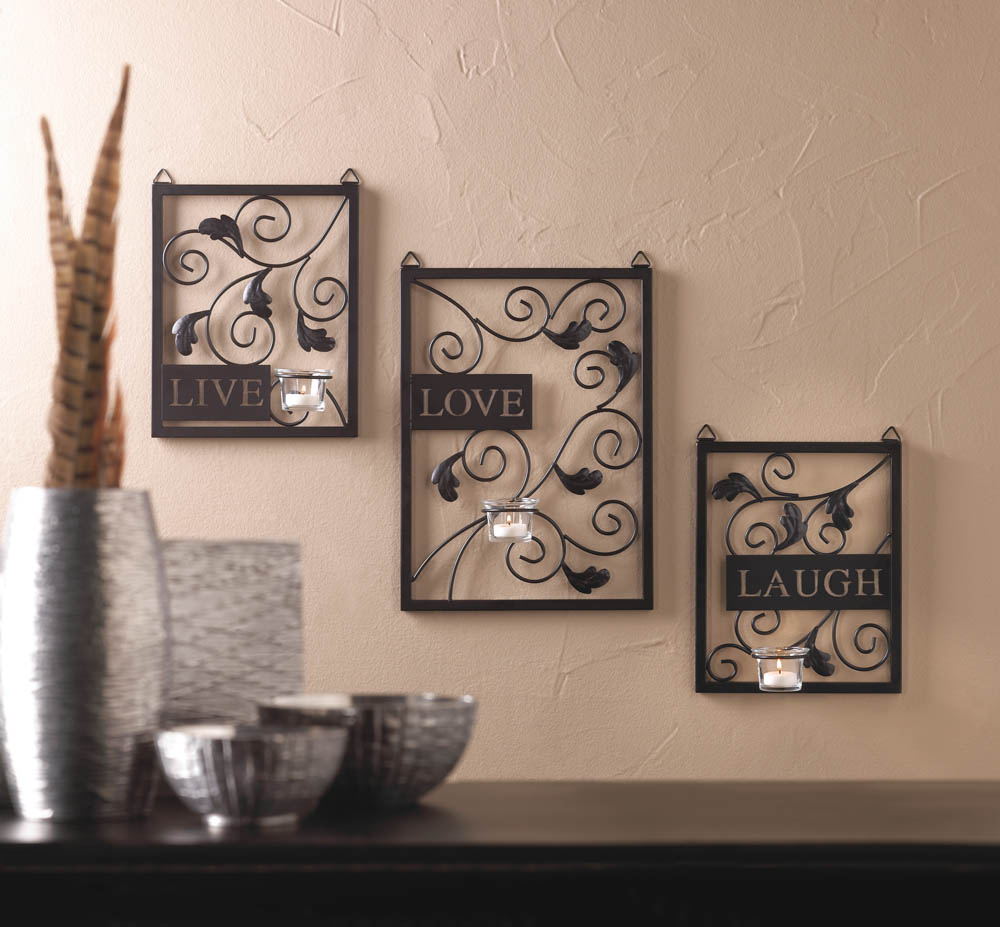 Wholesale Live, Love, Laugh Wall Decor In Live Love Laugh 3 Piece Black Wall Decor Sets (View 5 of 30)