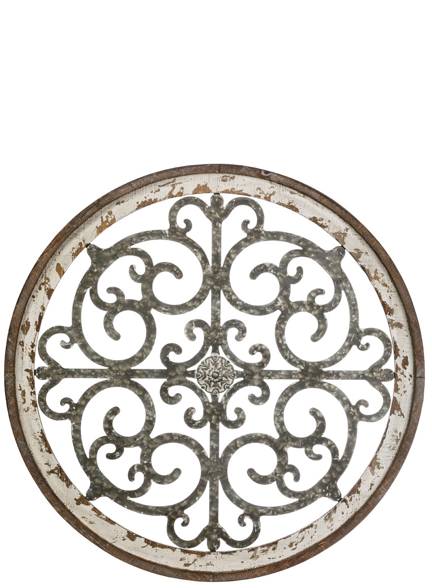 Wholesale Wall Decor, Home Decor Gray Metal | Sullivans regarding Belle Circular Scroll Wall Decor (Image 30 of 30)