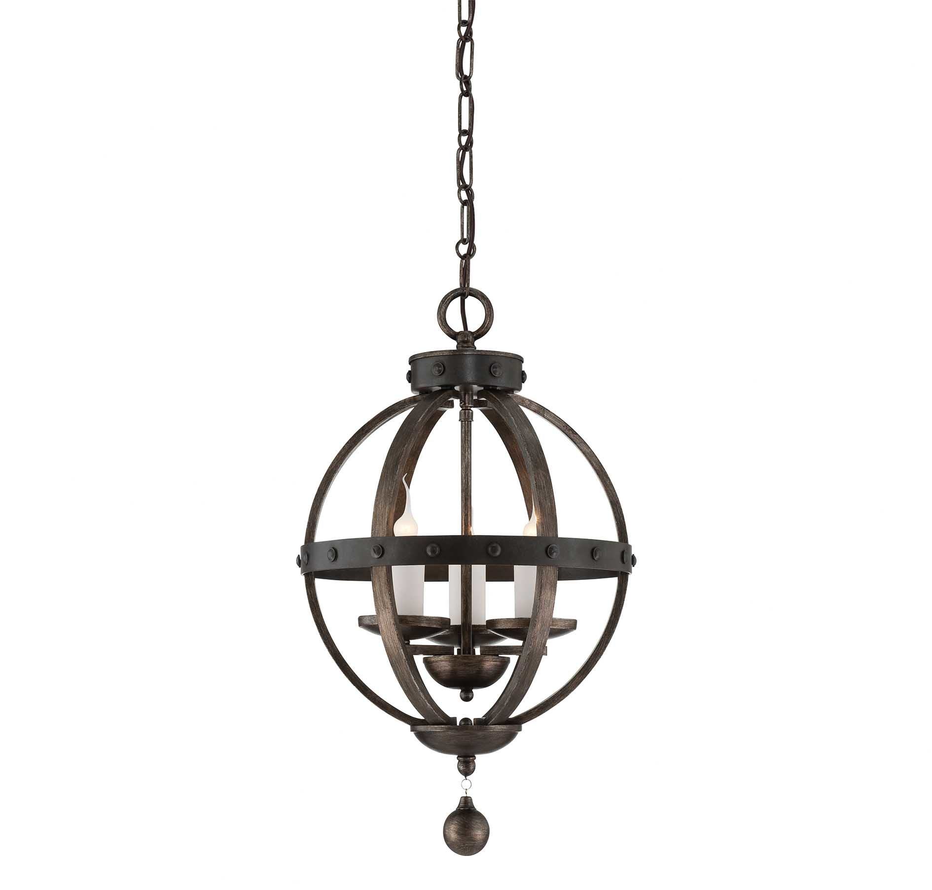 Wilburton 3-Light Globe Chandelier for Donna 6-Light Globe Chandeliers (Image 30 of 30)