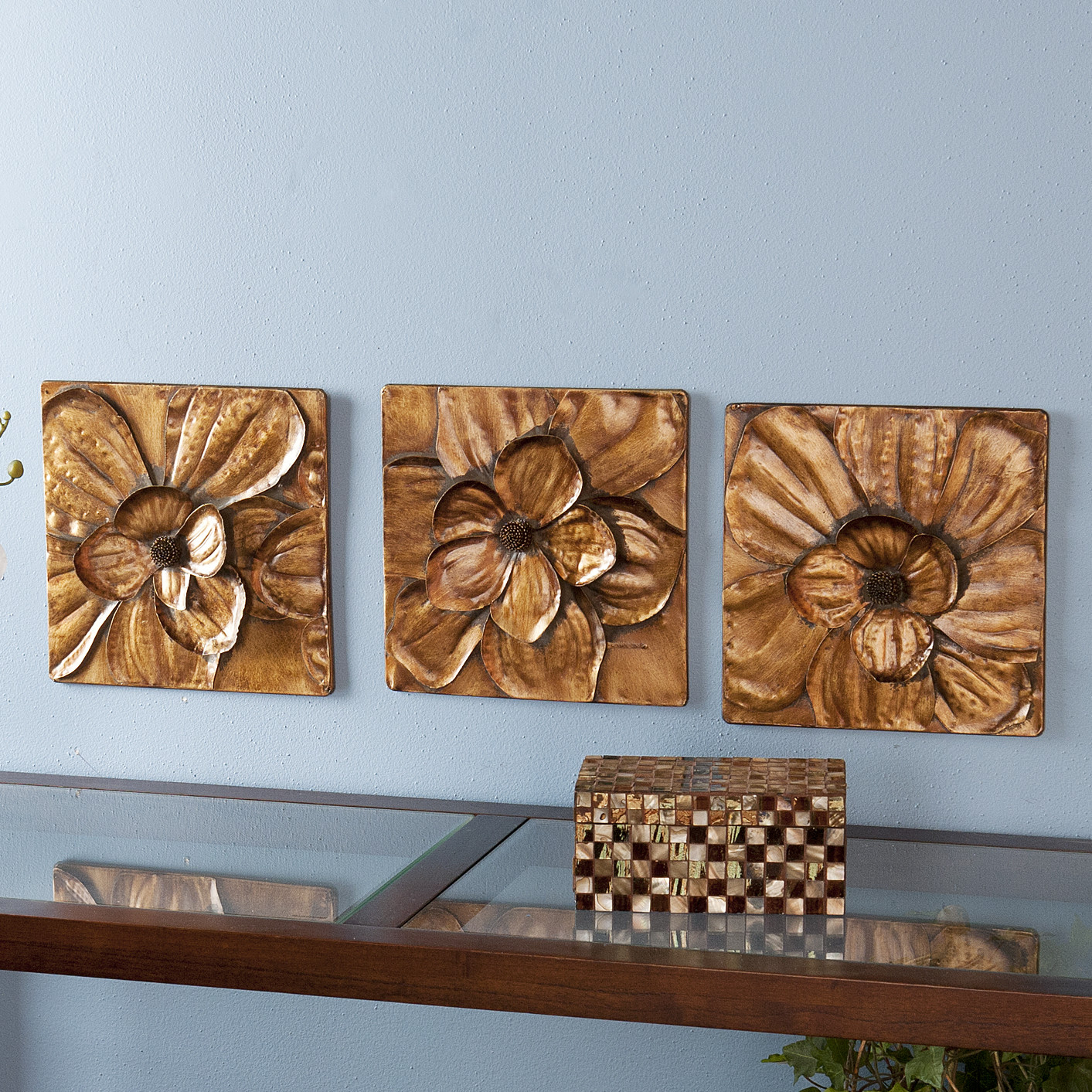 Wildon Home 3 Piece Burton Magnolia Panel Wall D Cor Set Inside 3 Piece Magnolia Brown Panel Wall Decor Sets (View 30 of 30)