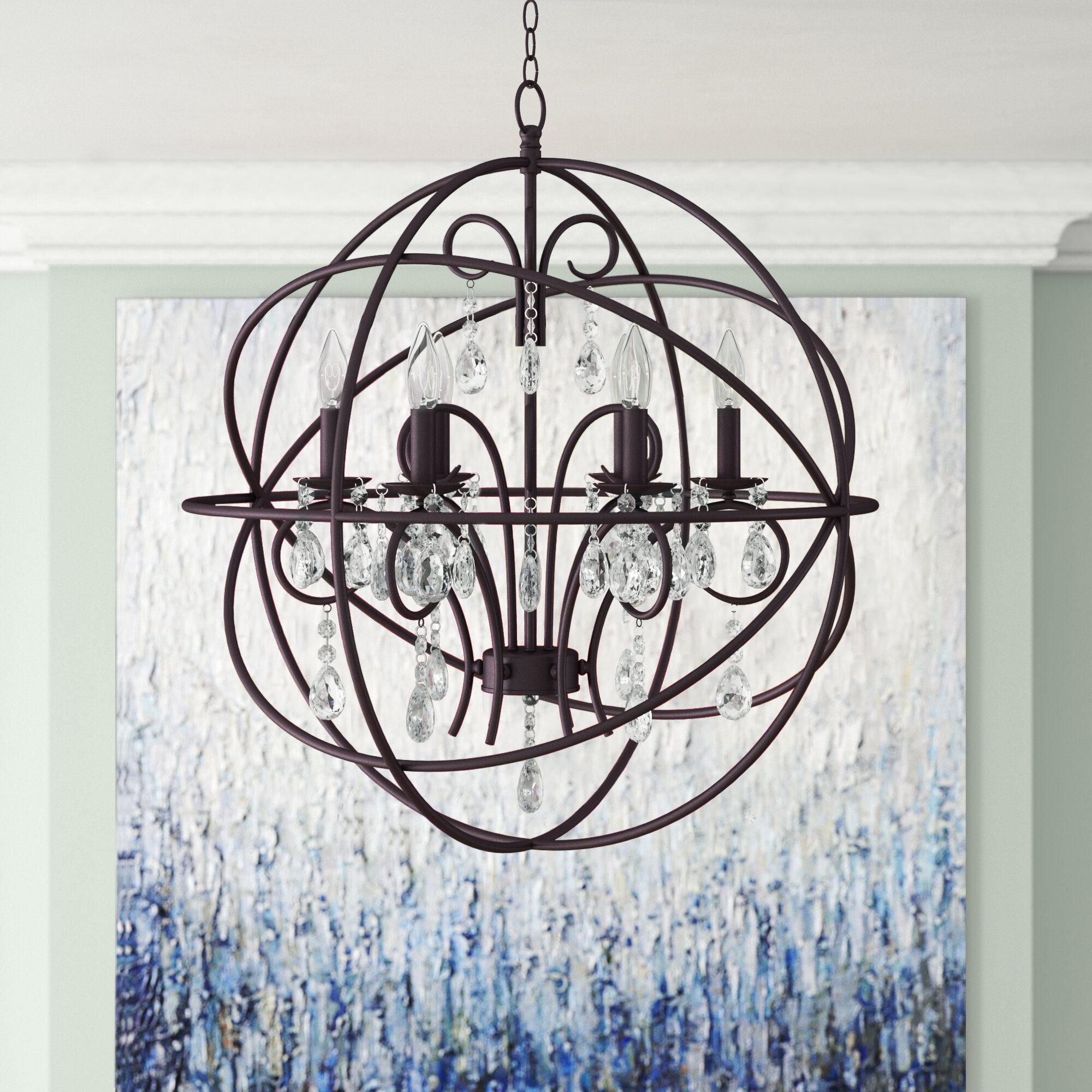 Willa Arlo Interiors Alden 6 Light Globe Chandelier Intended For Alden 6 Light Globe Chandeliers (View 2 of 30)