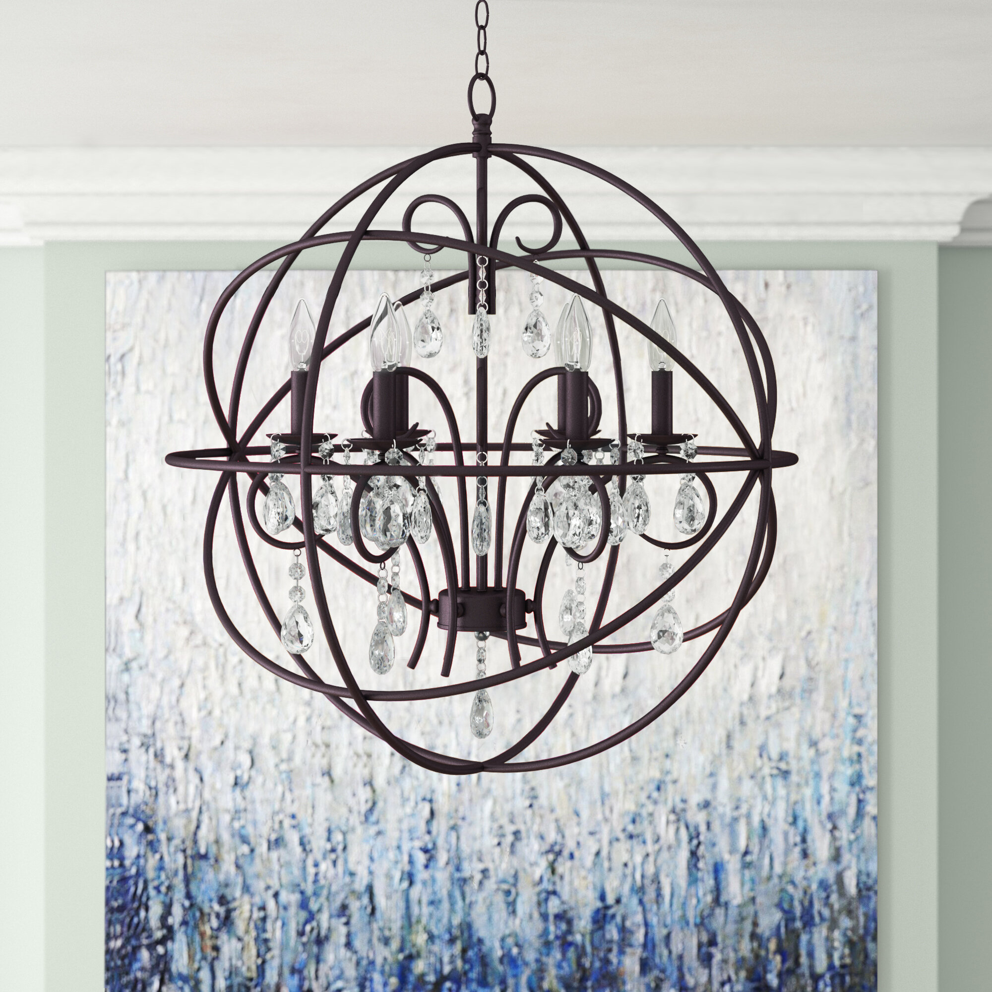 Willa Arlo Interiors Alden 6-Light Globe Chandelier within Joon 6-Light Globe Chandeliers (Image 28 of 30)