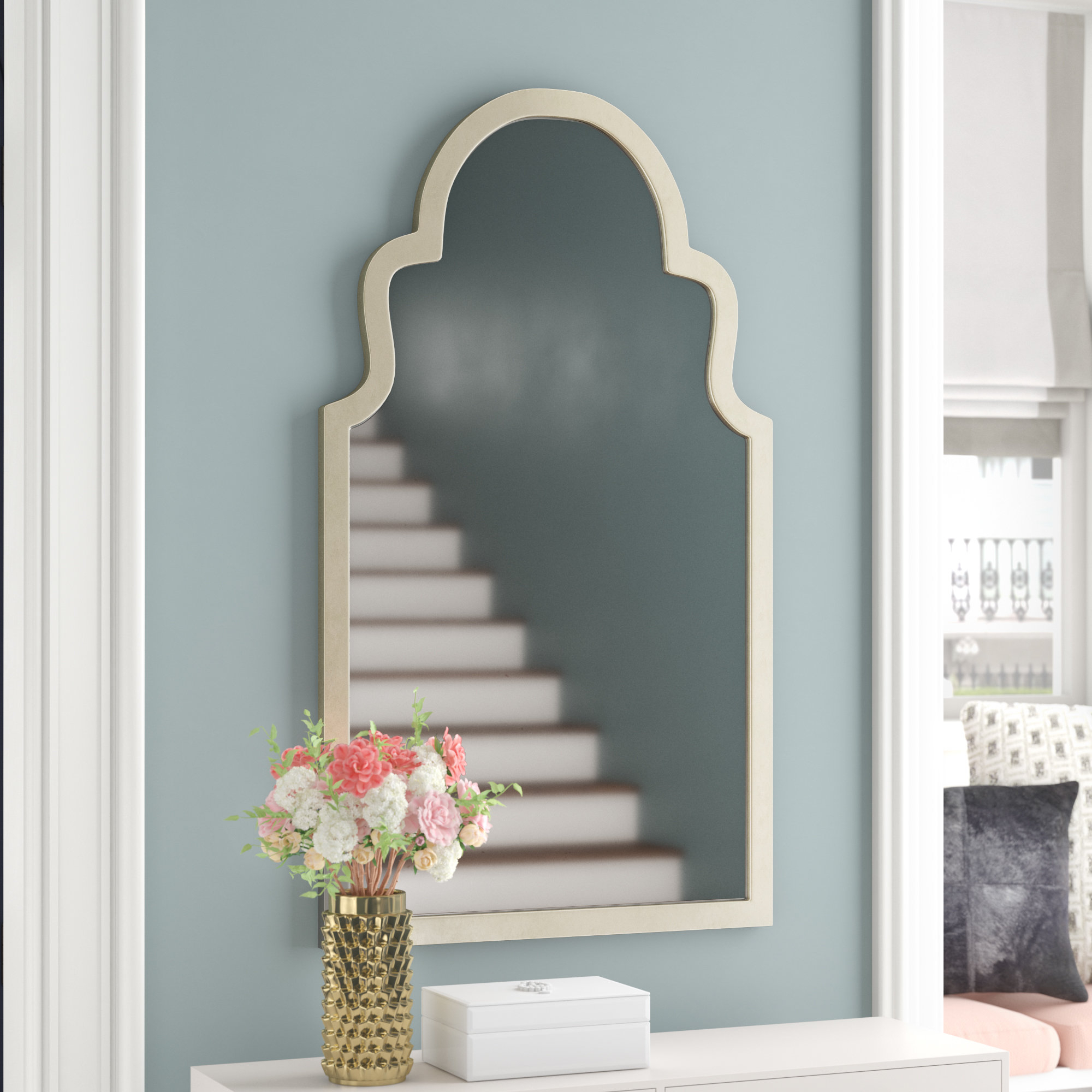 Willa Arlo Interiors Arch Top Vertical Wall Mirror & Reviews intended for Arch Vertical Wall Mirrors (Image 29 of 30)