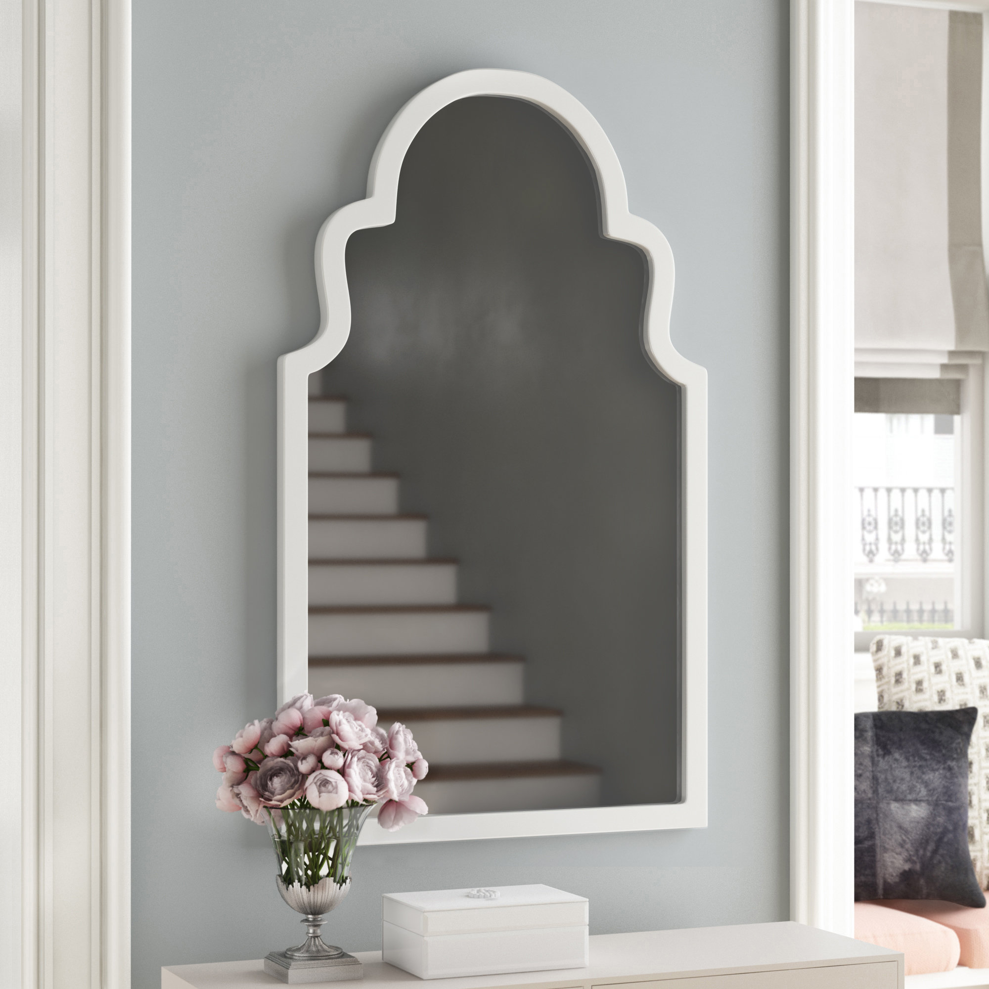 Willa Arlo Interiors Arch Vertical Wall Mirror & Reviews Intended For Fifi Contemporary Arch Wall Mirrors (View 27 of 30)