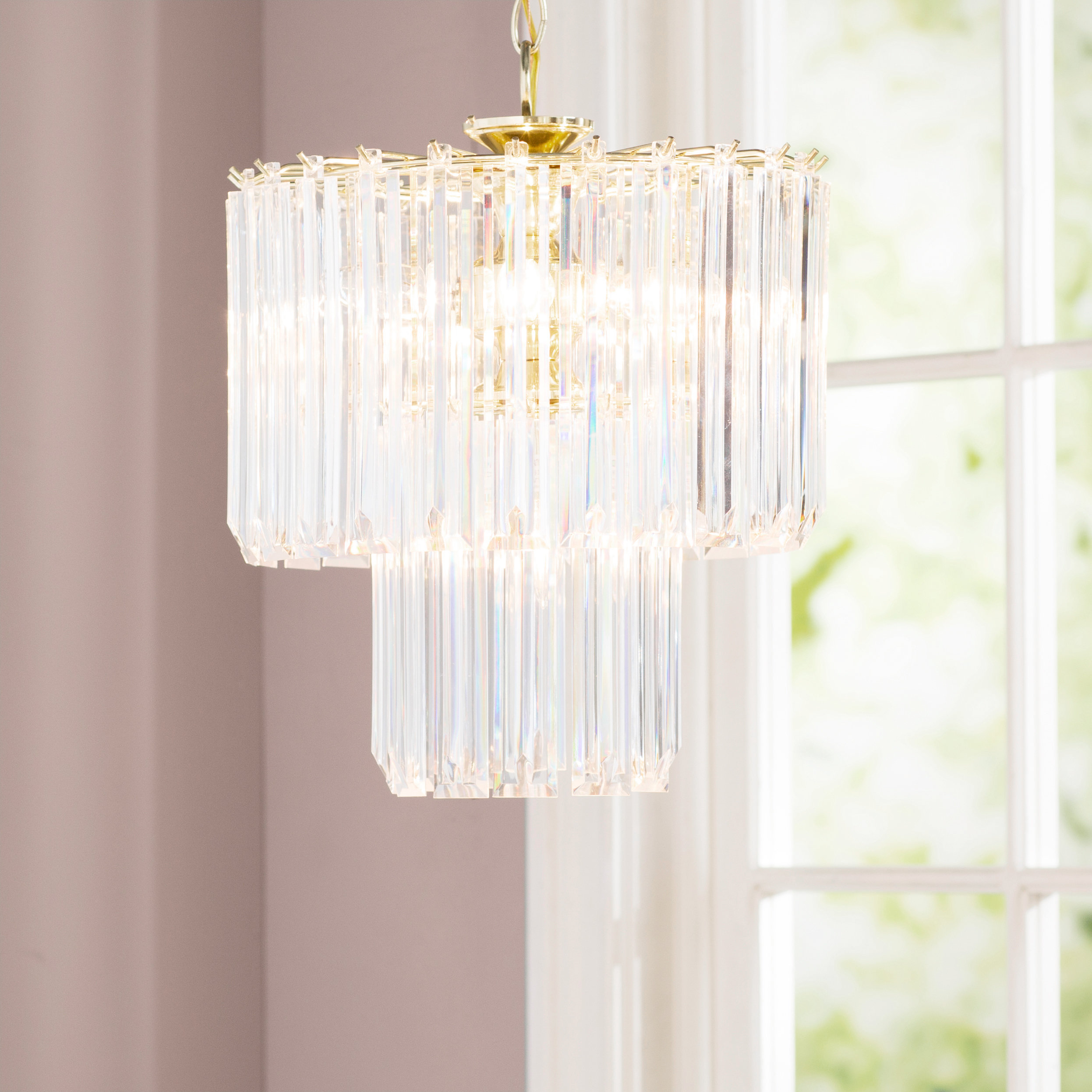 Featured Photo of Benedetto 5 Light Crystal Chandeliers
