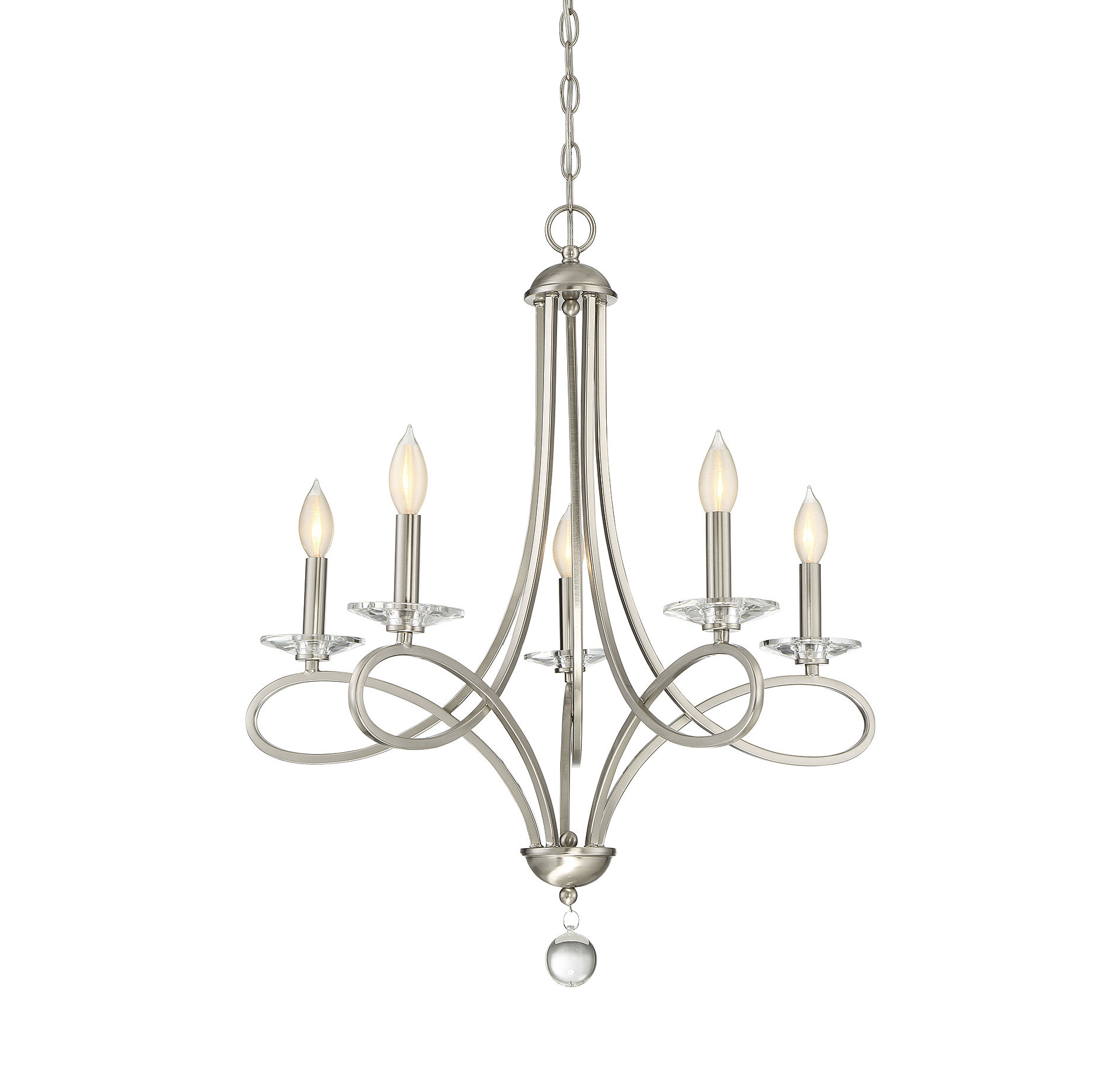 Willa Arlo Interiors Berger 5 Light Candle Style Chandelier Intended For Hesse 5 Light Candle Style Chandeliers (View 5 of 30)