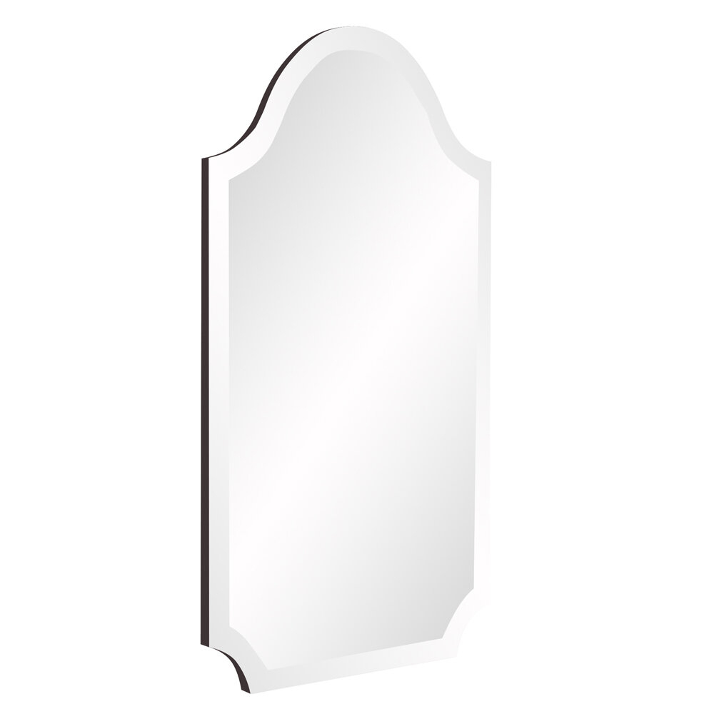 Willa Arlo Interiors Dariel Tall Arched Scalloped Wall Mirror for Dariel Tall Arched Scalloped Wall Mirrors (Image 29 of 30)