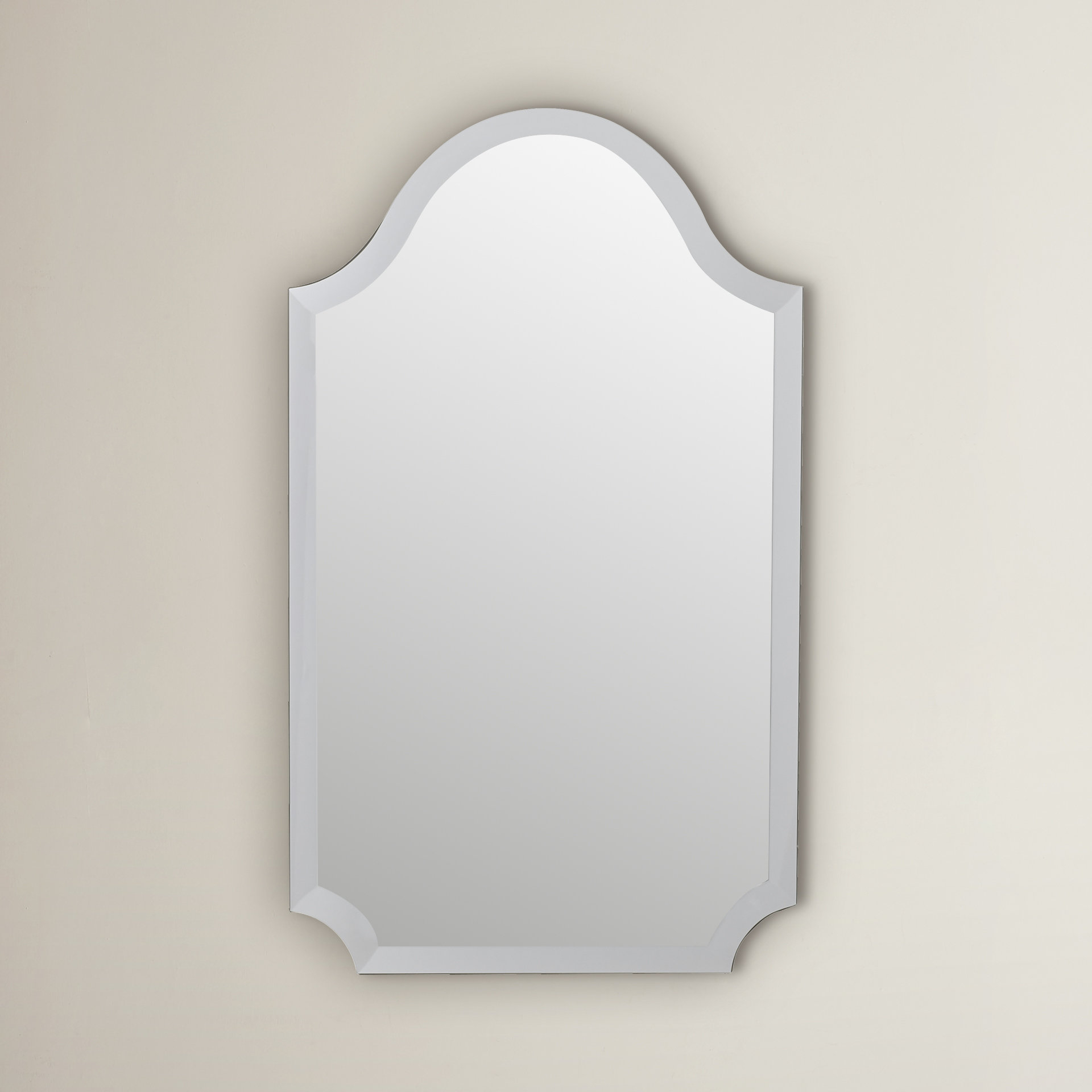 Willa Arlo Interiors Dariel Tall Arched Scalloped Wall Mirror for Dariel Tall Arched Scalloped Wall Mirrors (Image 28 of 30)