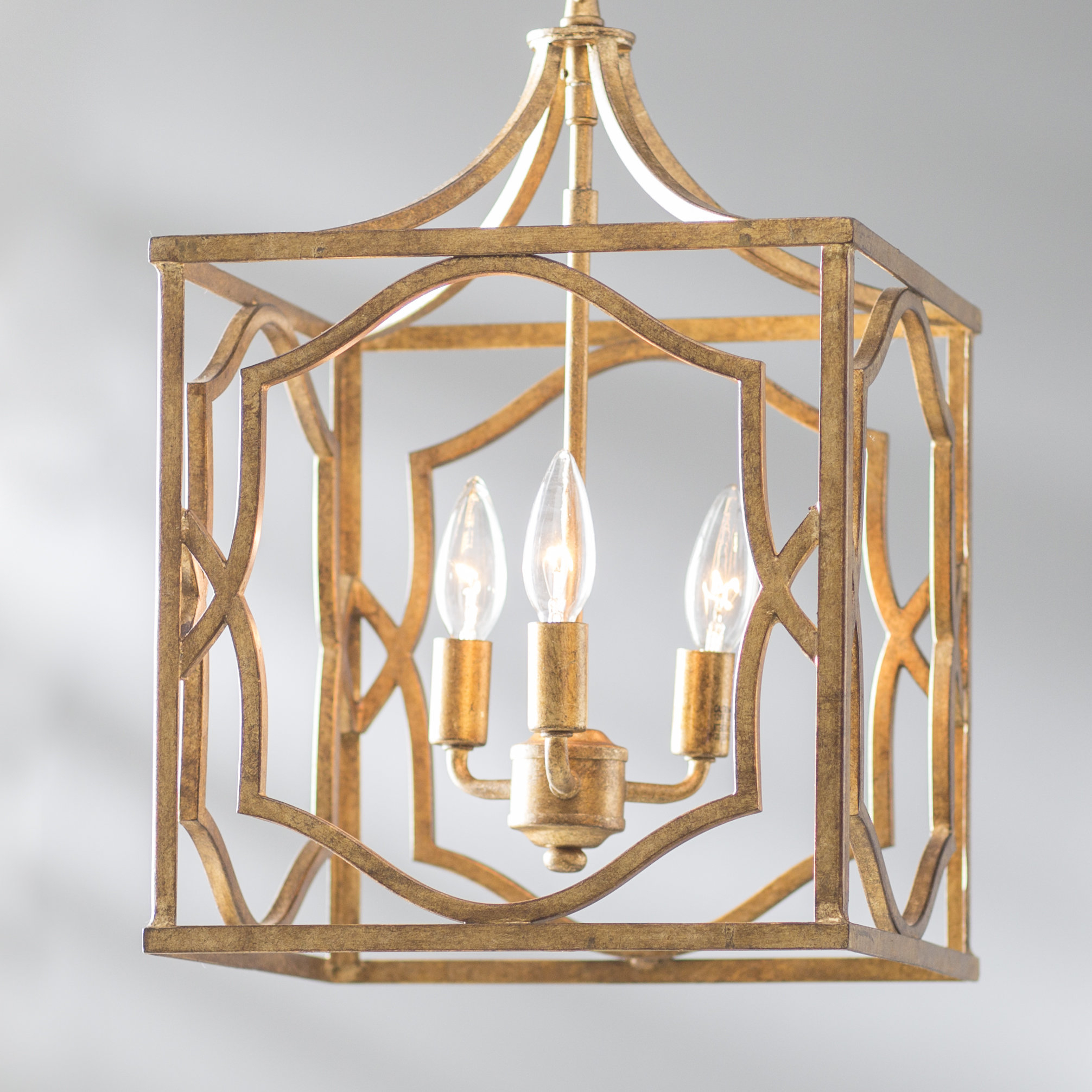 Willa Arlo Interiors Destrey 3 Light Lantern Pendant With Destrey 3 Light Lantern Square/rectangle Pendants (View 16 of 30)