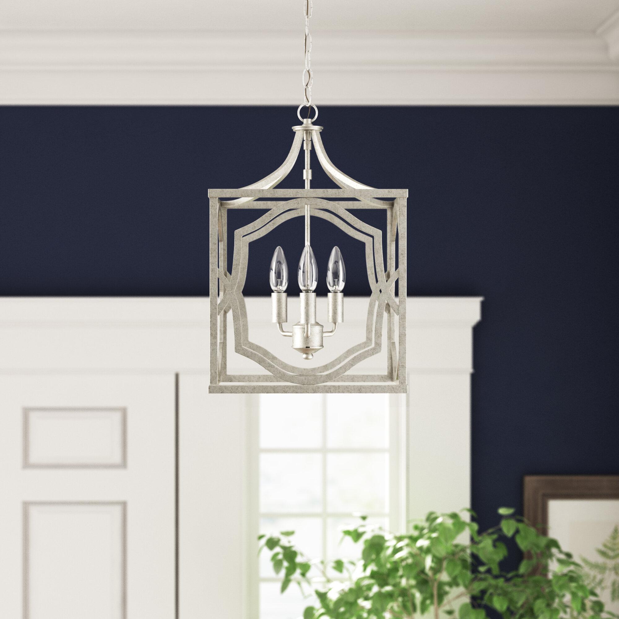 Willa Arlo Interiors Destrey 3 Light Lantern Square/rectangle Pendant With Freeburg 4 Light Lantern Square / Rectangle Pendants (View 20 of 30)