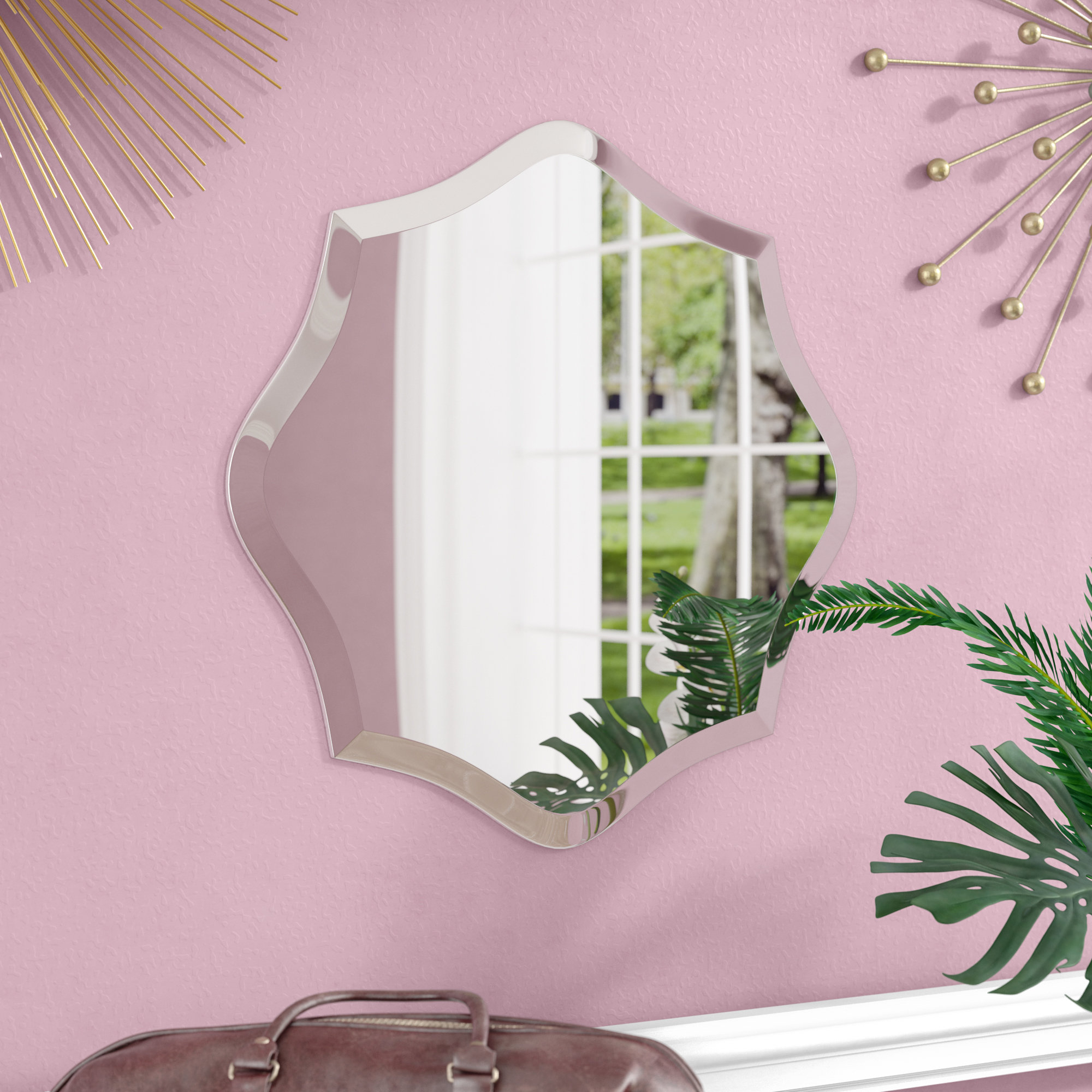 Willa Arlo Interiors Egor Accent Mirror & Reviews | Wayfair (View 16 of 30)