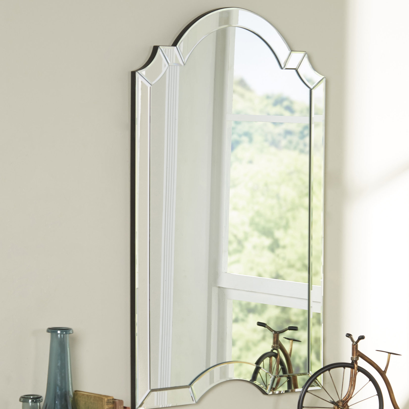 Willa Arlo Interiors Ekaterina Arch/crowned Top Wall Mirror For Ekaterina Arch/crowned Top Wall Mirrors (View 4 of 30)