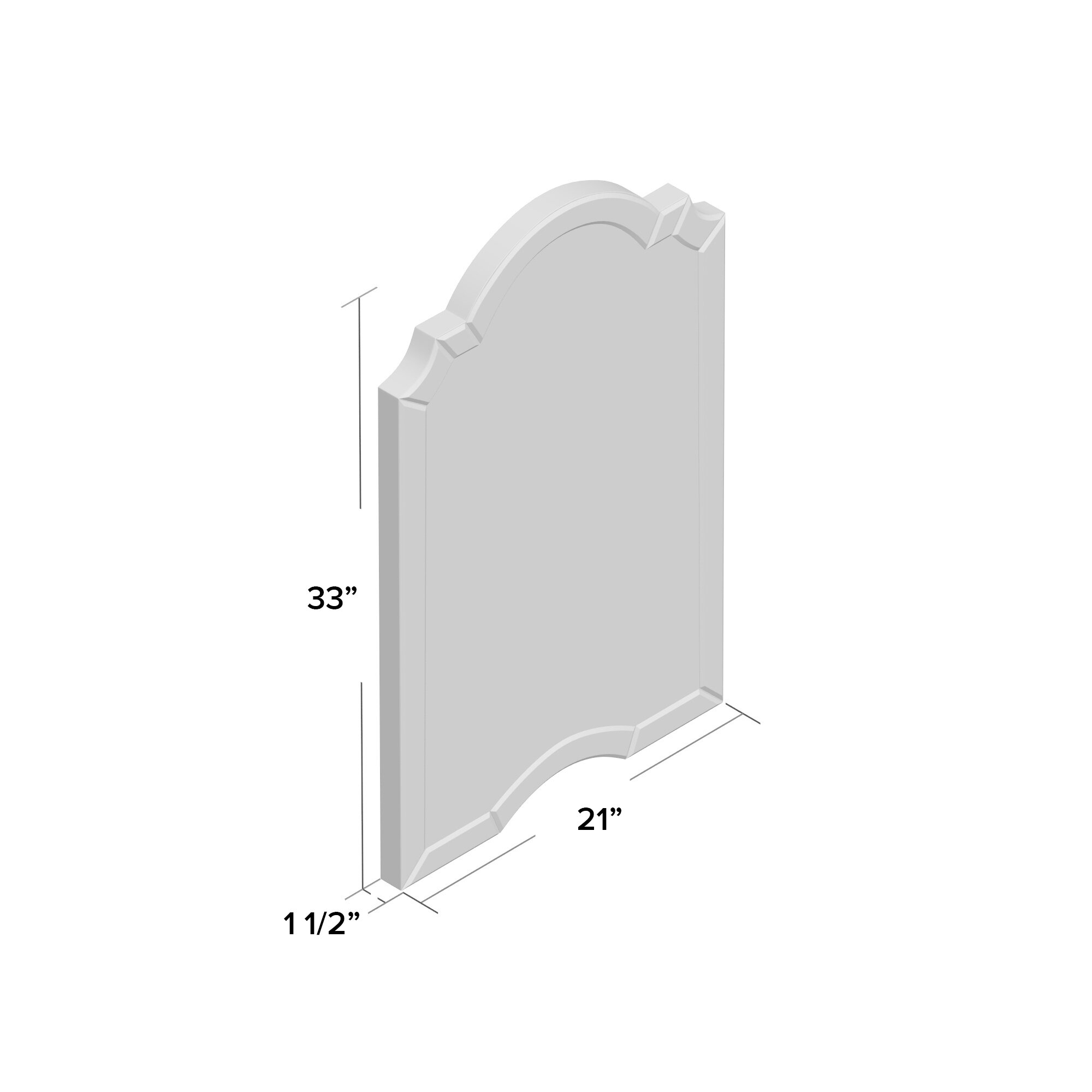 Willa Arlo Interiors Ekaterina Arch/crowned Top Wall Mirror Pertaining To Ekaterina Arch/crowned Top Wall Mirrors (View 9 of 30)