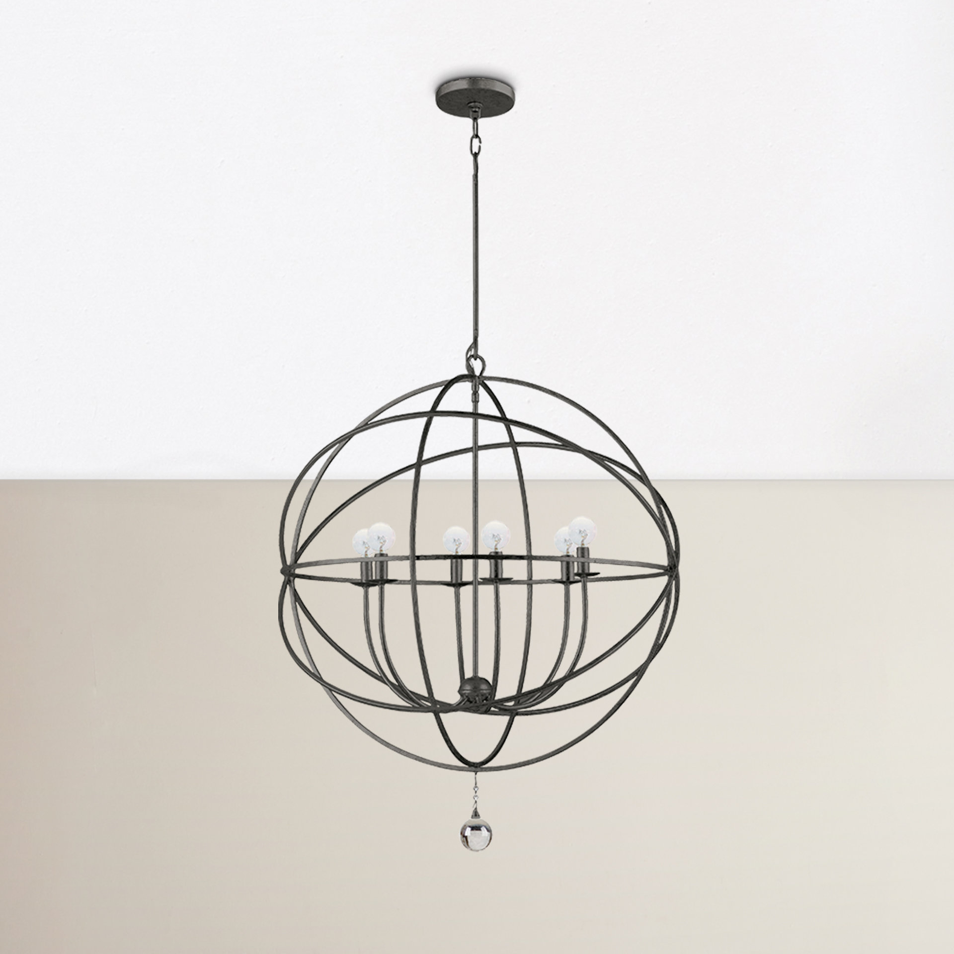 Willa Arlo Interiors Gregoire 6 Light Globe Chandelier Regarding Gregoire 6 Light Globe Chandeliers (View 6 of 30)
