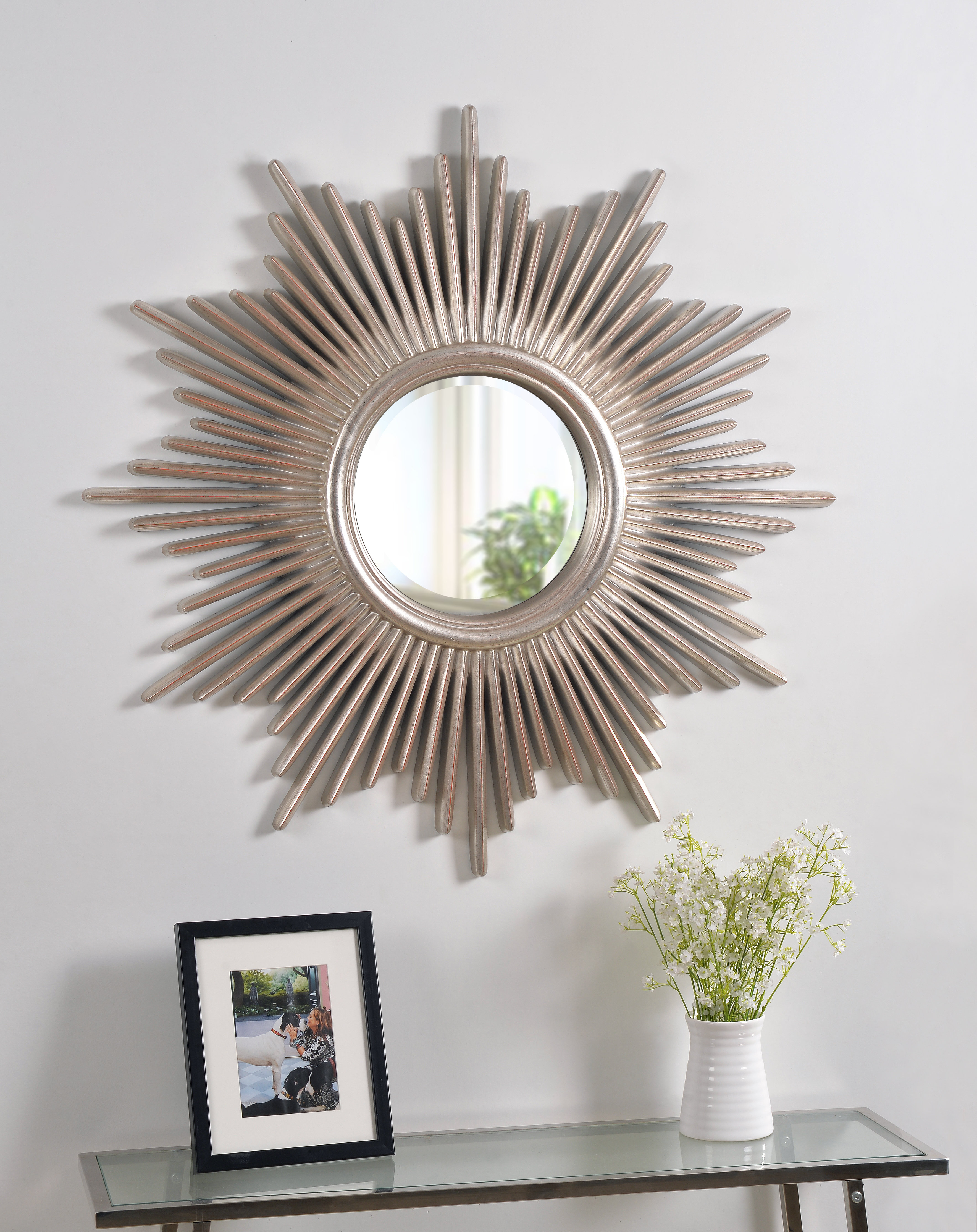 Willa Arlo Interiors Josephson Starburst Glam Beveled Accent Wall Mirror With Starburst Wall Decor By Willa Arlo Interiors (View 25 of 30)