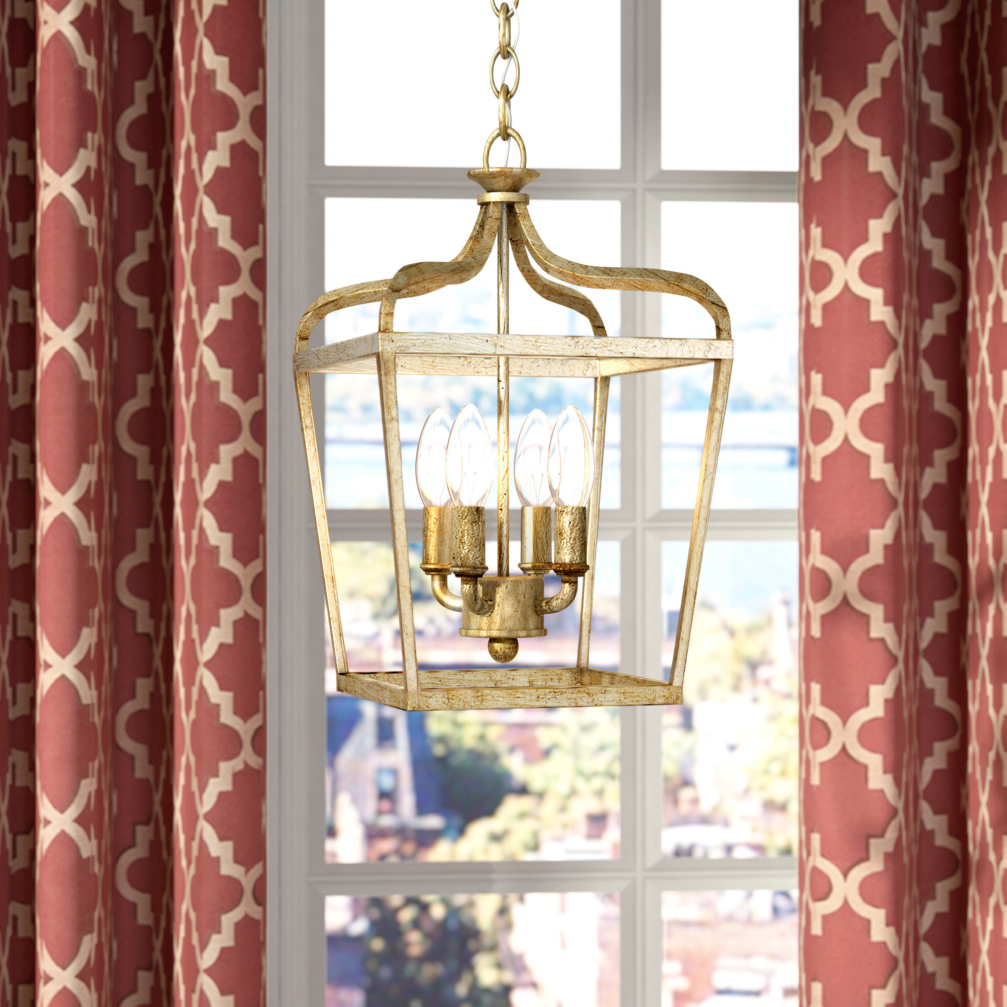 Willa Arlo Interiors Seraphine 4 Light Foyer Pendant With Regard To Finnick 4 Light Foyer Pendants (View 17 of 30)