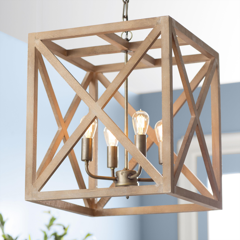 William 4 Light Lantern Square / Rectangle Pendant Pertaining To Freeburg 4 Light Lantern Square / Rectangle Pendants (View 3 of 30)