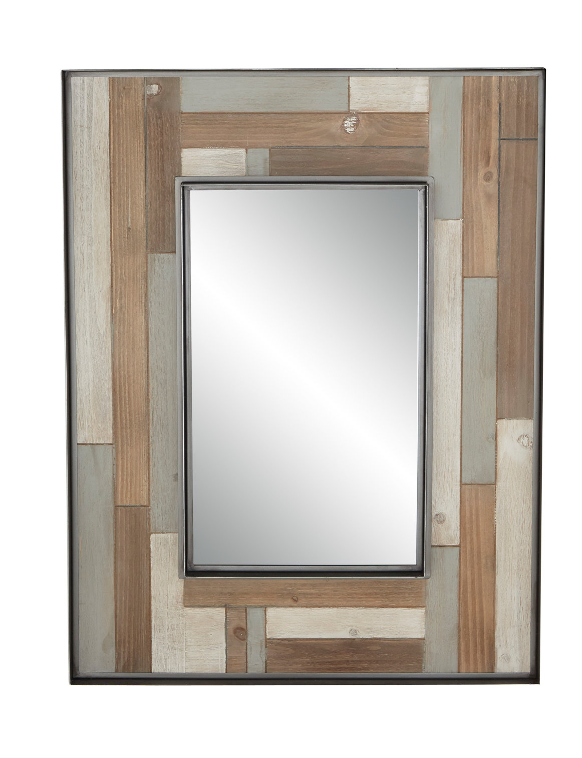 Williamstown Rustic Rectangular Accent Mirror pertaining to Longwood Rustic Beveled Accent Mirrors (Image 28 of 30)