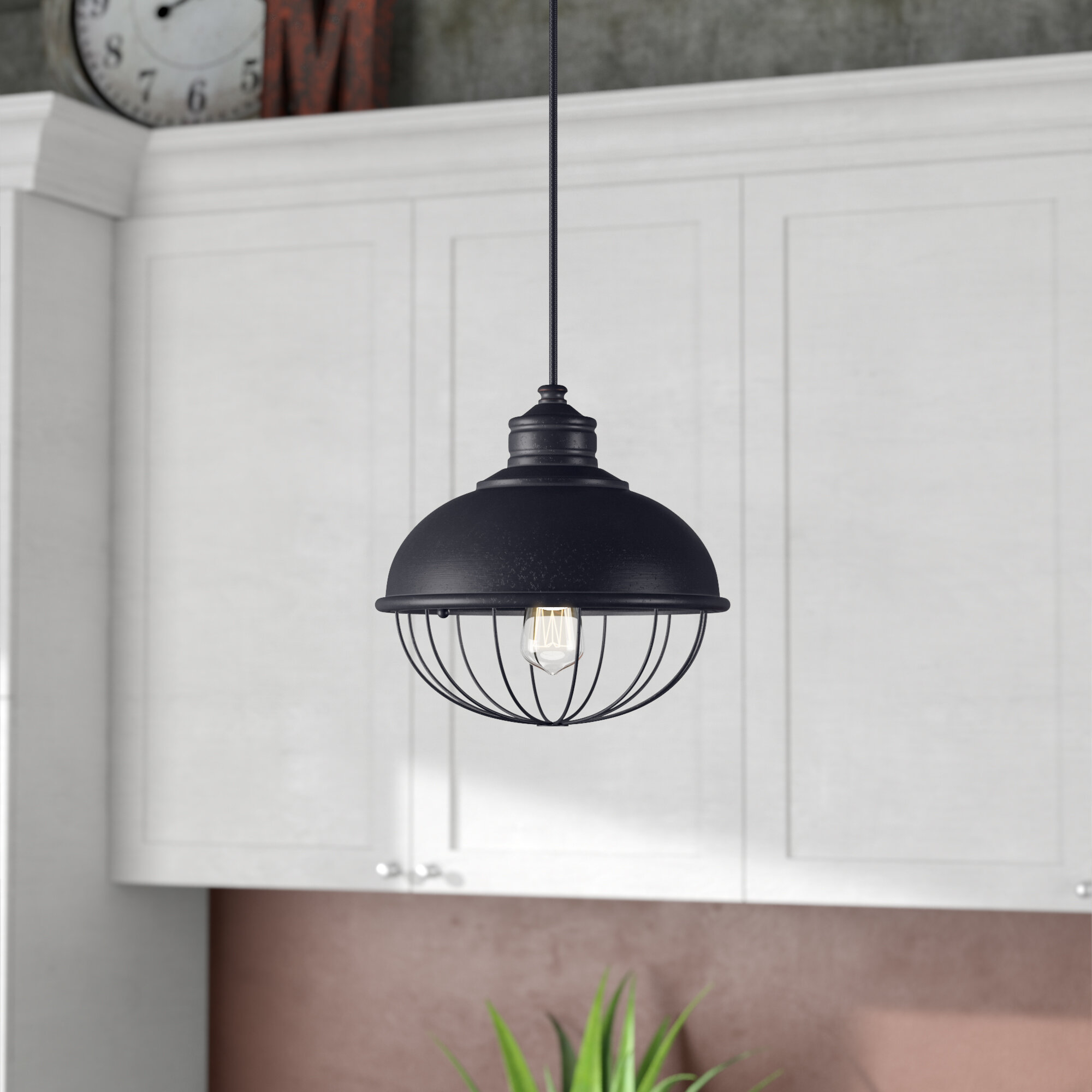 Williston Forge Abordale 1-Light Dome Pendant regarding Abordale 1-Light Single Dome Pendants (Image 30 of 30)