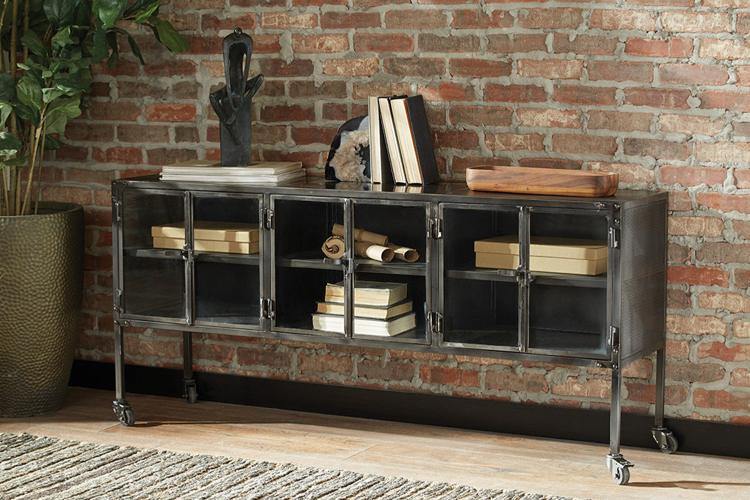 Williston Forge Carwile 6 Door Accent Cabinet | Wayfair.ca with Eau Claire 6 Door Accent Cabinets (Image 29 of 30)