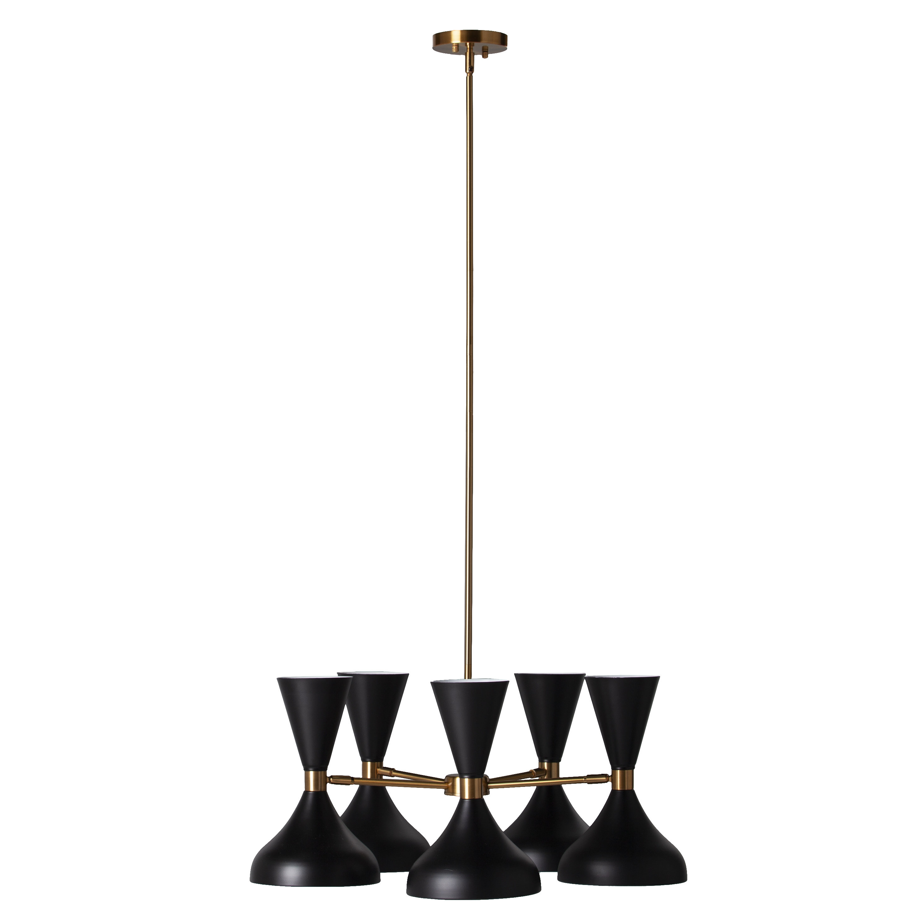 Winchendon 5 Light Led Cone Pendant Intended For Cinchring 1 Light Cone Pendants (View 30 of 30)