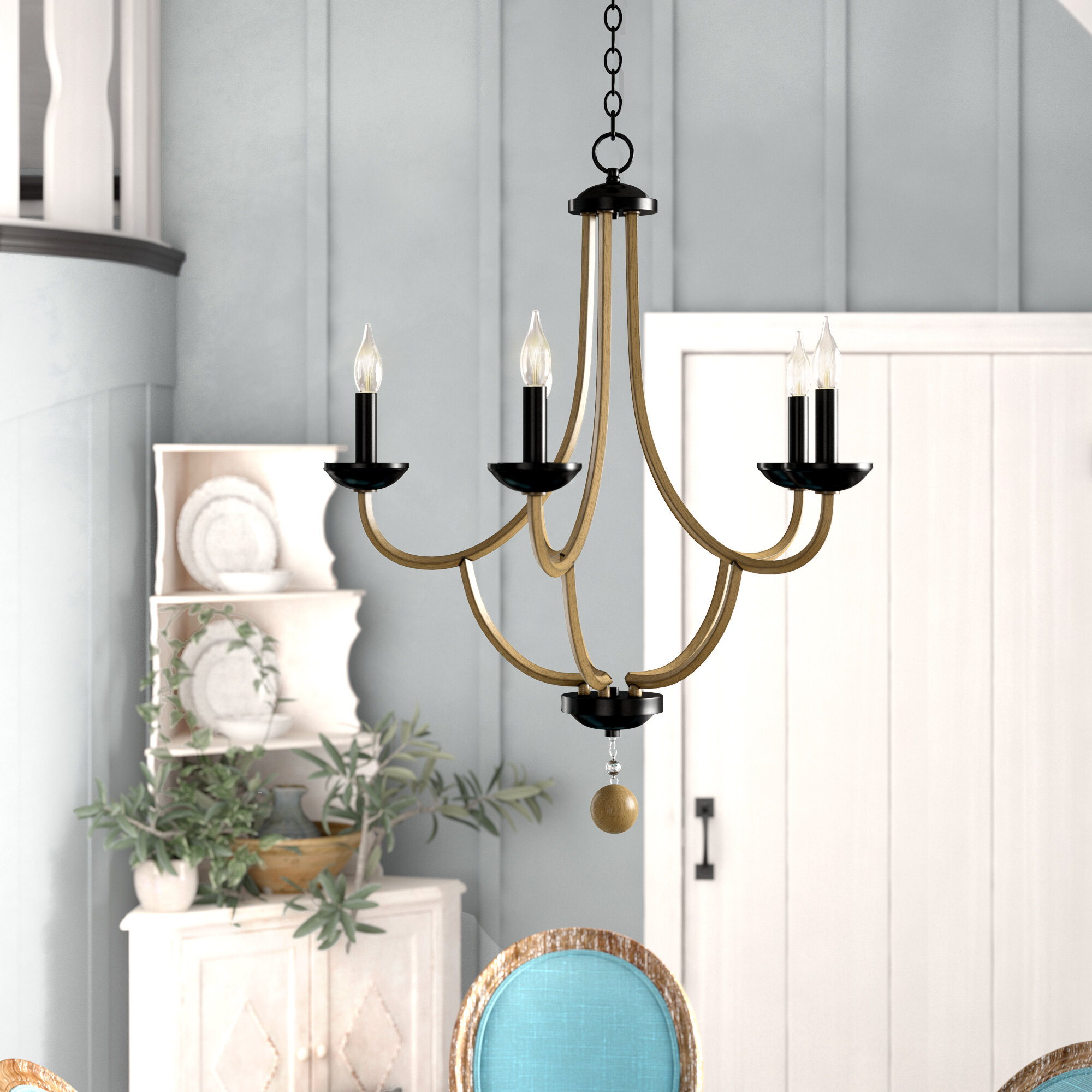 Winget 5-Light Candle Style Chandelier with regard to Watford 9-Light Candle Style Chandeliers (Image 29 of 30)