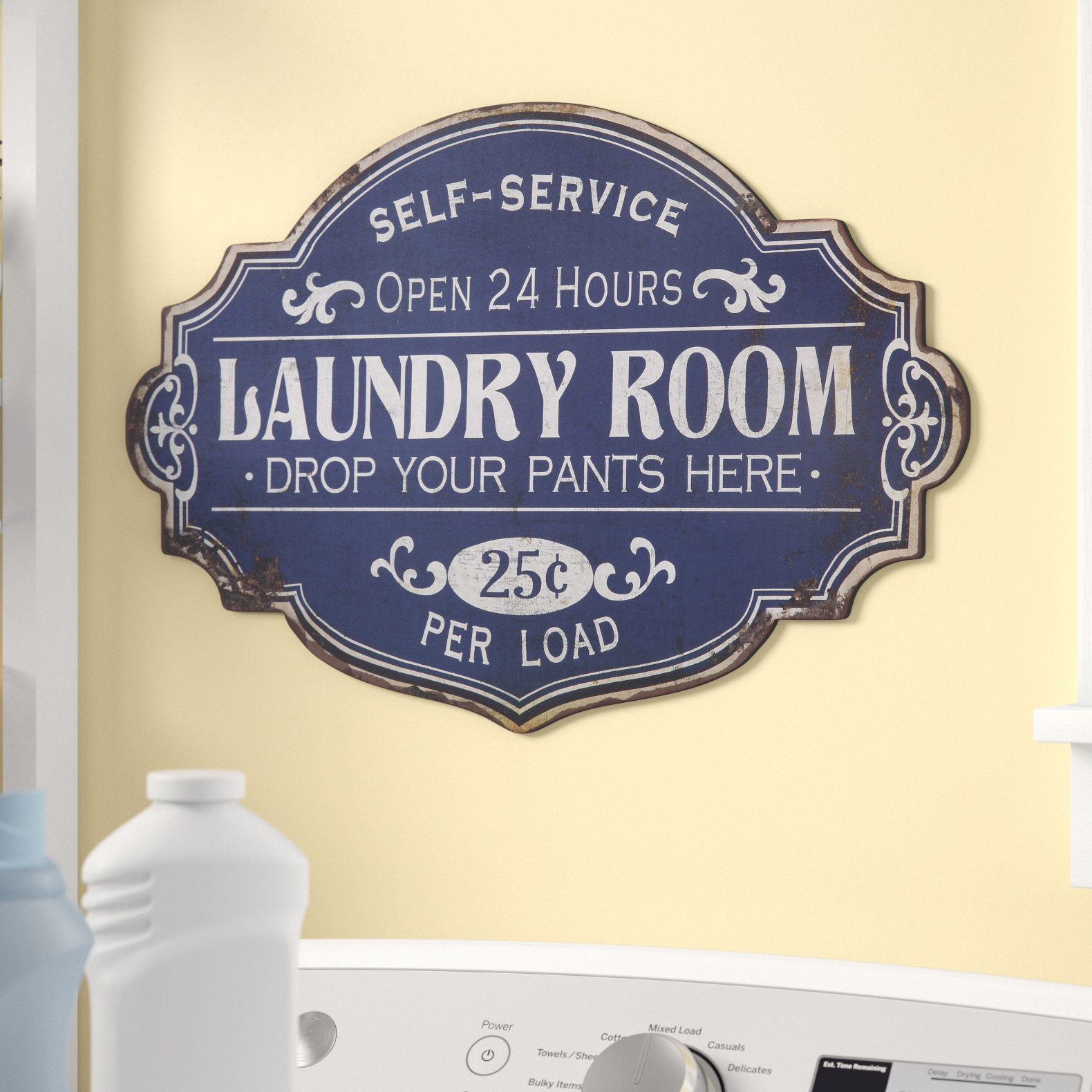 Featured Photo of Metal Laundry Room Wall Decor By Winston Porter