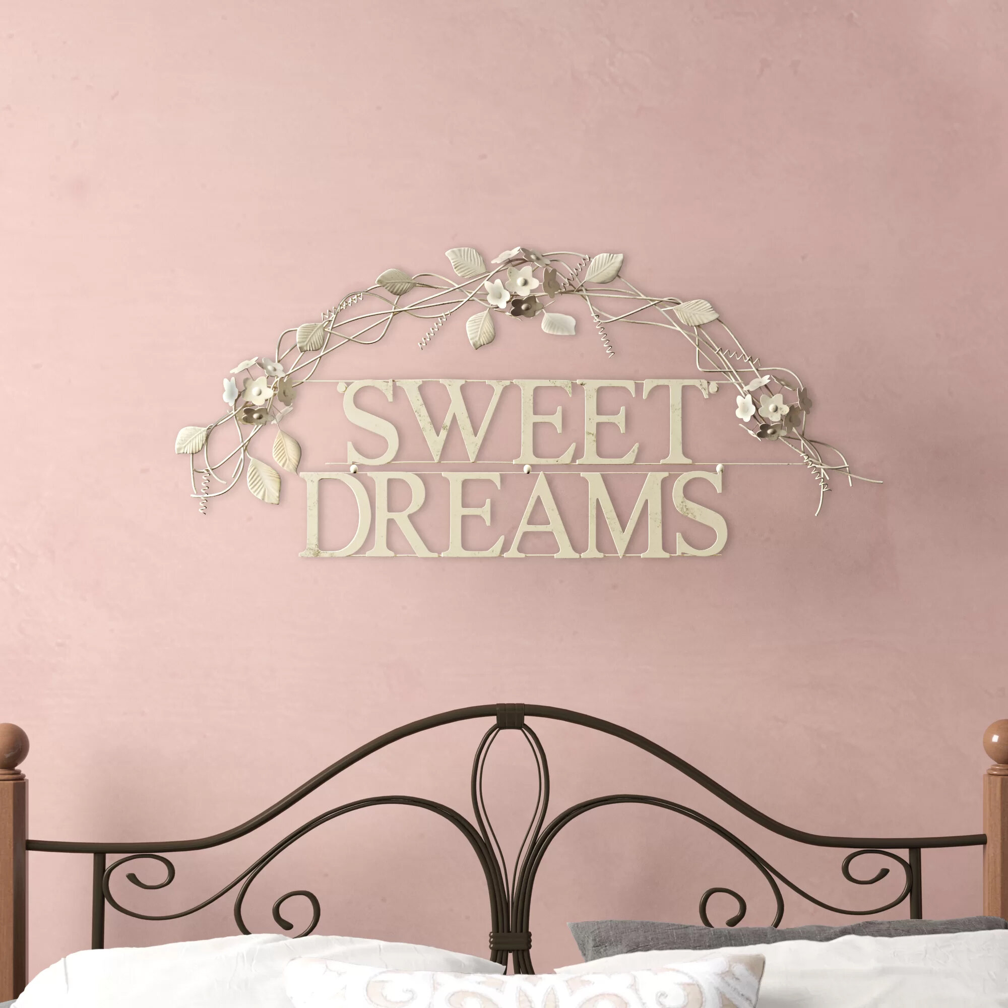 Winston Porter Sweet Dreams Metal Wall Décor & Reviews | Wayfair intended for Metal Wall Decor By Winston Porter (Image 26 of 30)