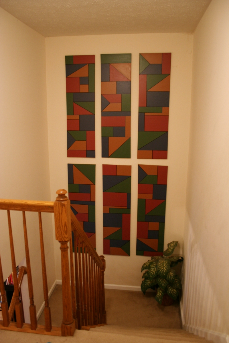 Wonderful Decorating Staircase Wall Ideas How To Decorate for Landing Art Wall Decor (Image 29 of 30)