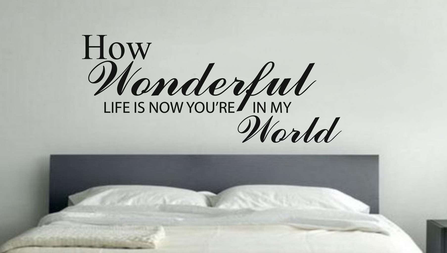 Wonderful Life Wall Art Decal Sticker pertaining to Wonderful World Wall Decor (Image 24 of 30)